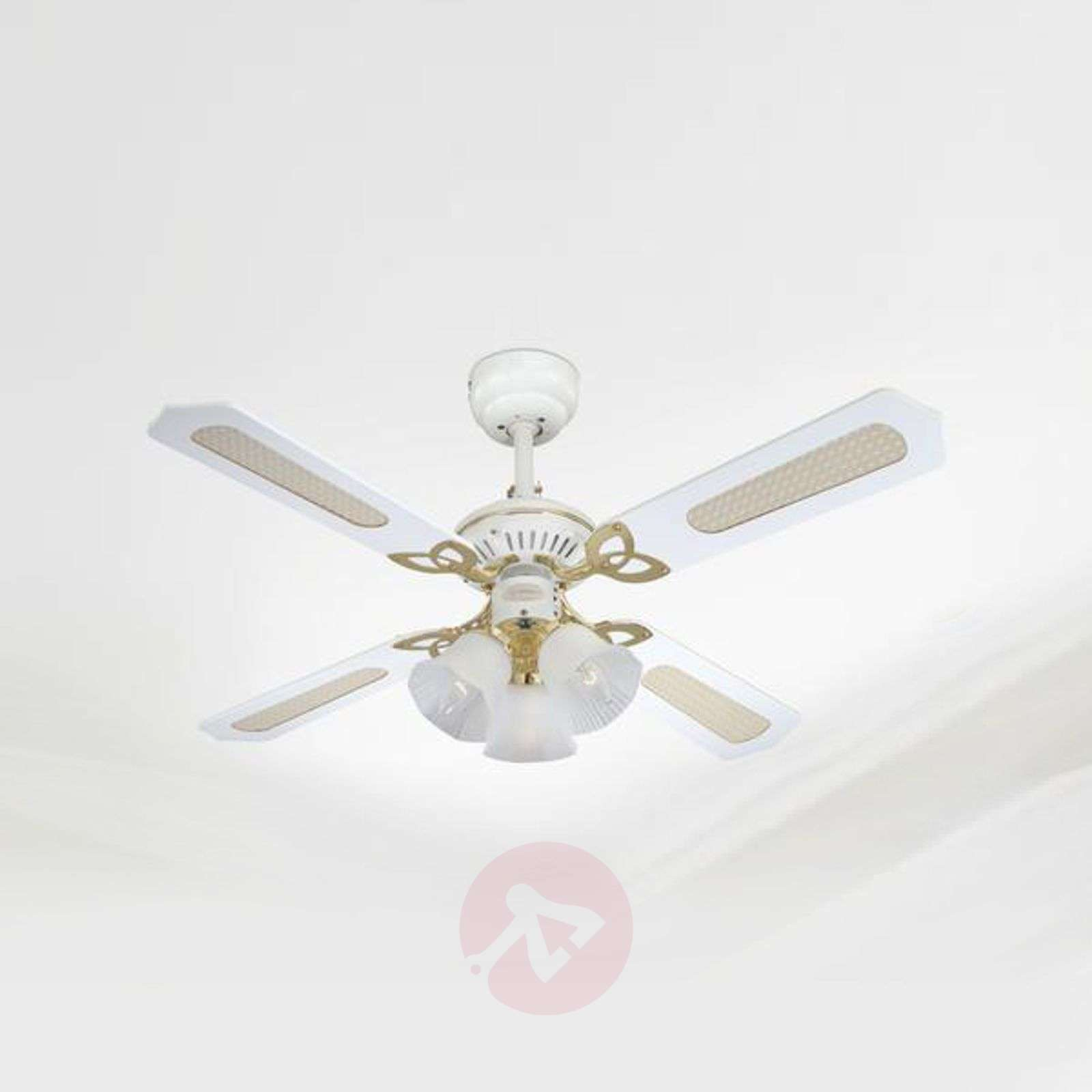 Exclusive princess trio ceiling fan in white lights exclusive princess trio ceiling fan in white 9602167 05 aloadofball Image collections