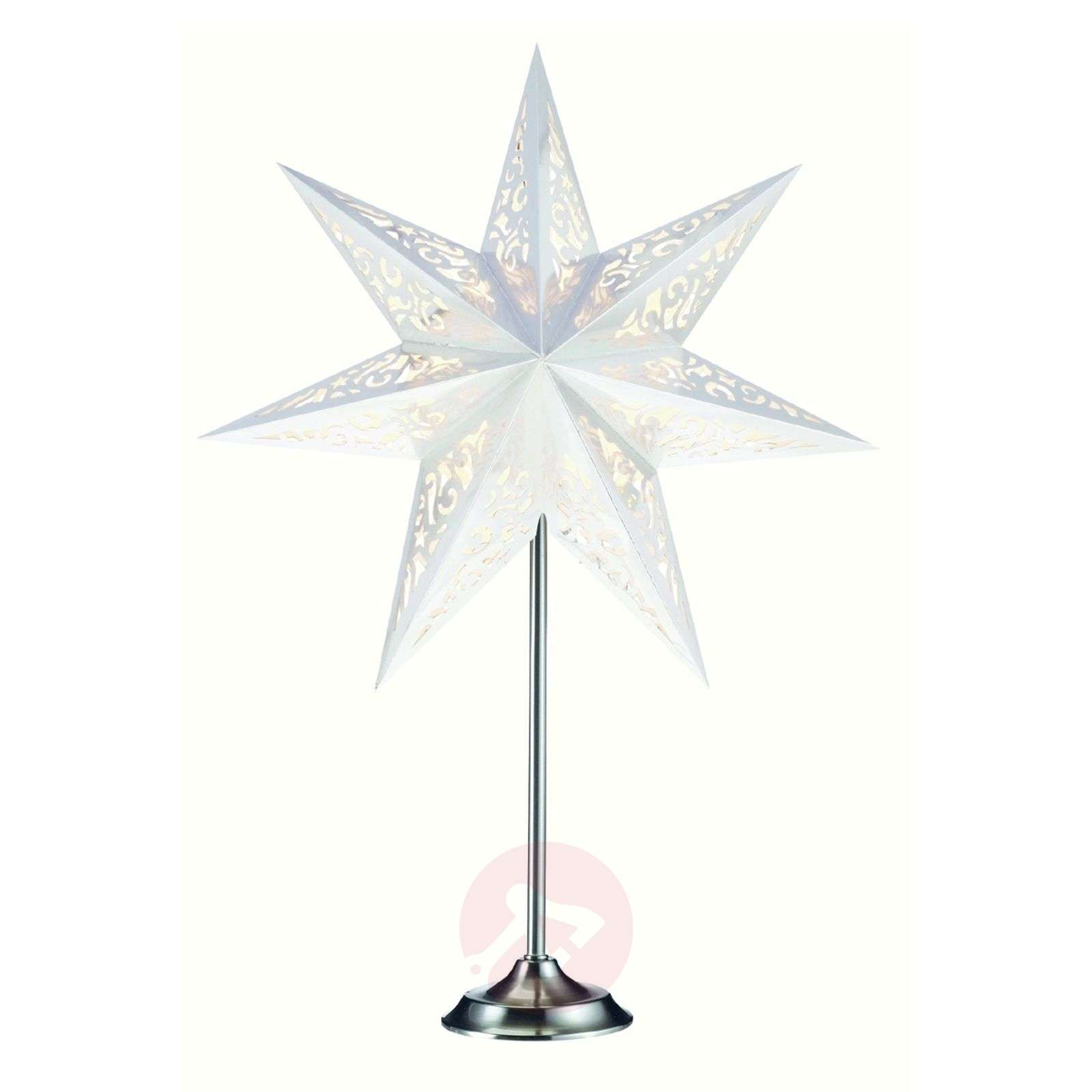 Extraordinary star with stand Vallby, white-6507189-01