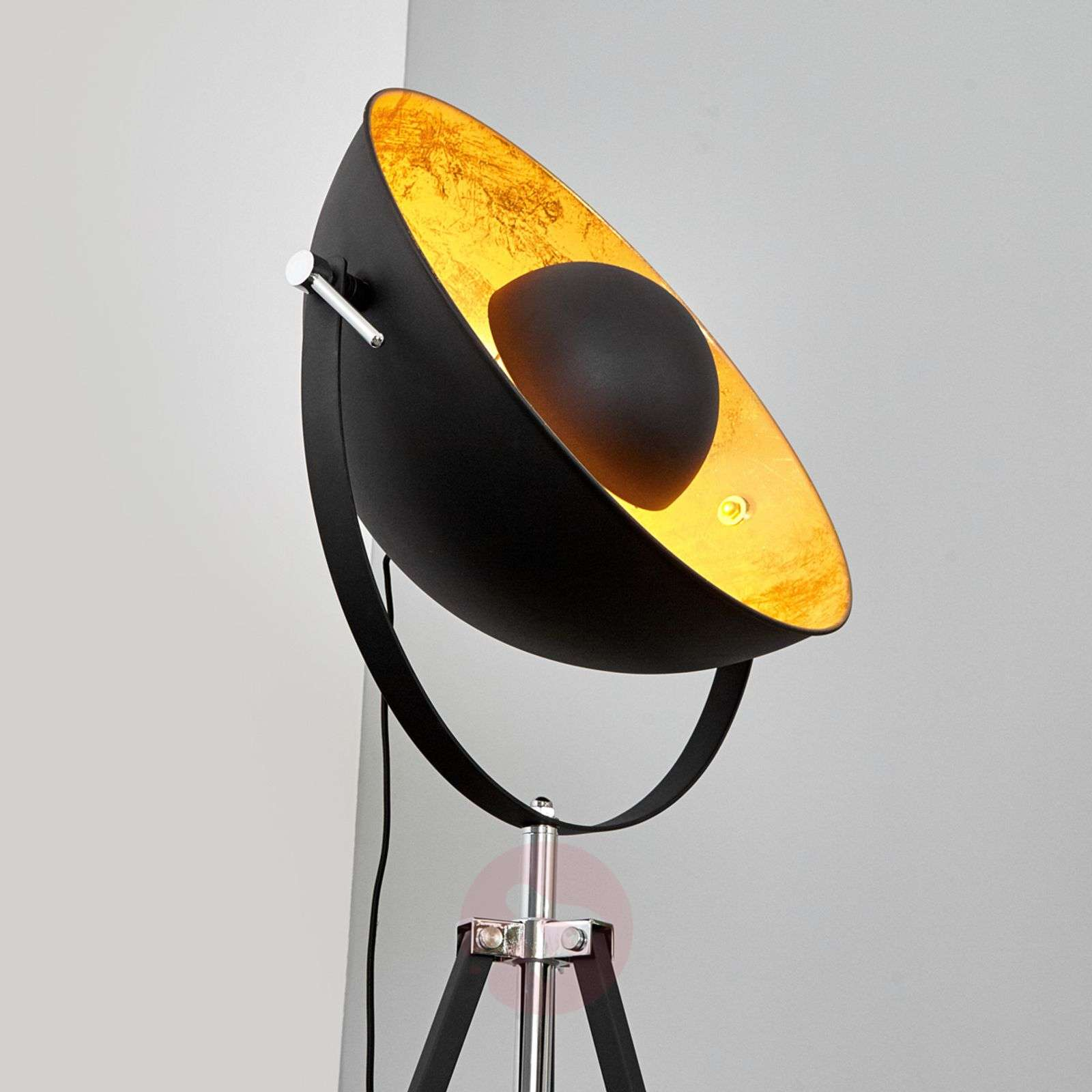 Extravagant floor lamp Mineva in black and gold-4018081-02