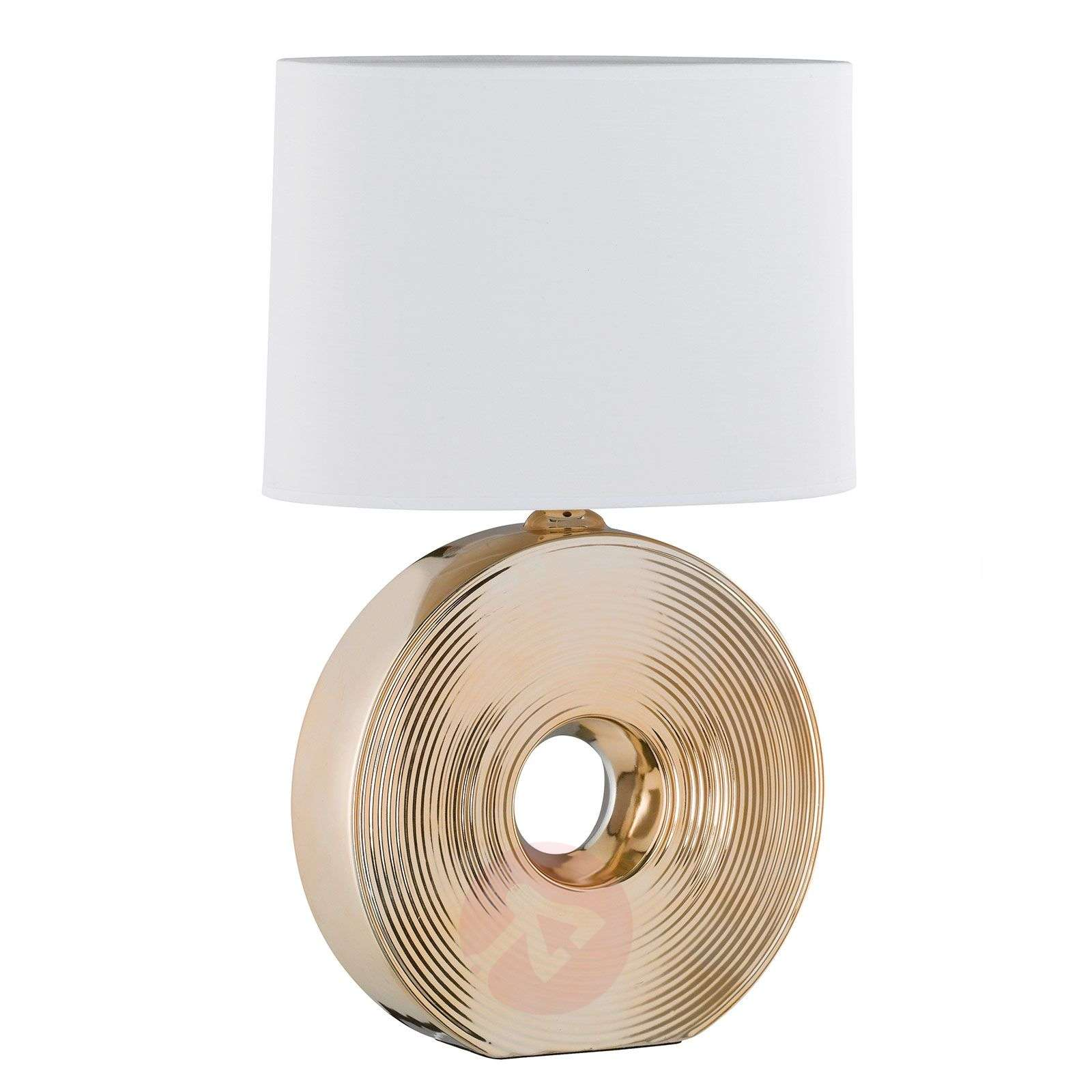 Eye beautiful table lamp with ceramic base gold 54-4581284-02