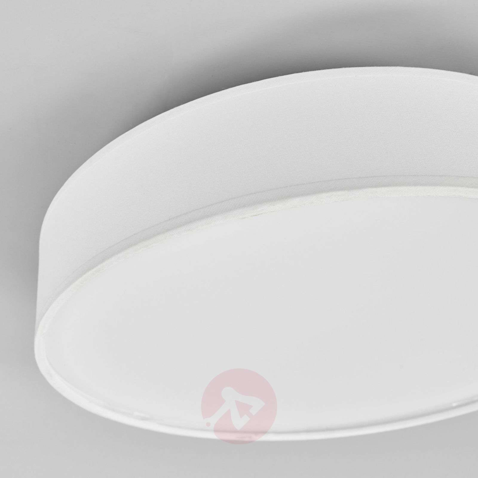 Fabric LED ceiling lamp Saira, 30 cm, white-9625086-02