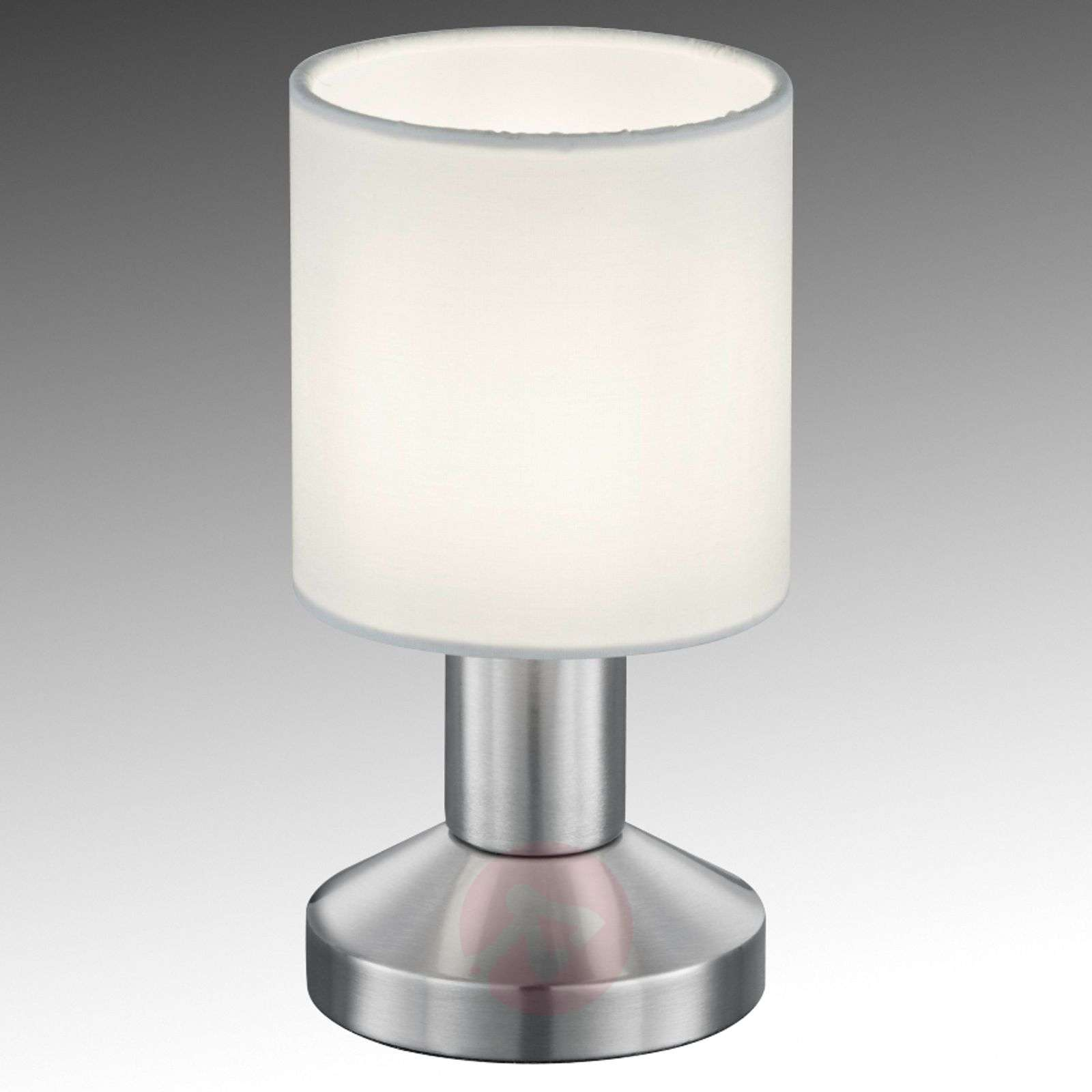 Fabric table lamp Garda with white lampshade-9005332-01
