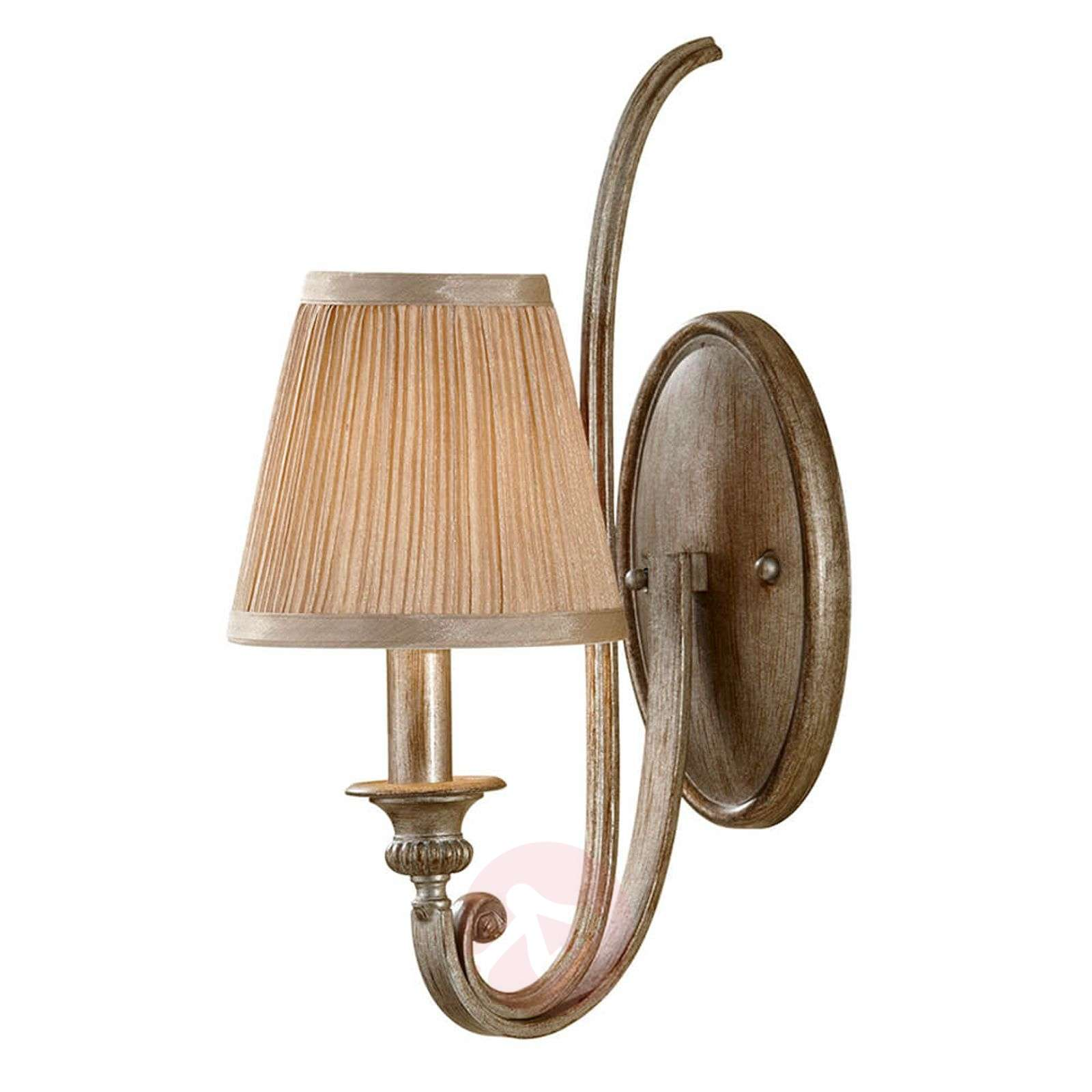 Fabric wall lamp Abbey with a dynamic design-3048512-01