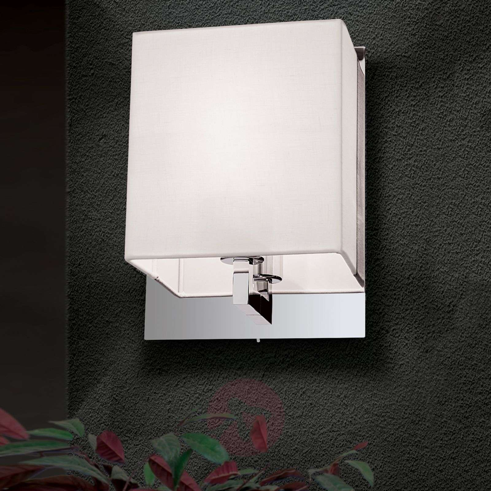Fabric wall light Grigor with switch-7255161-01