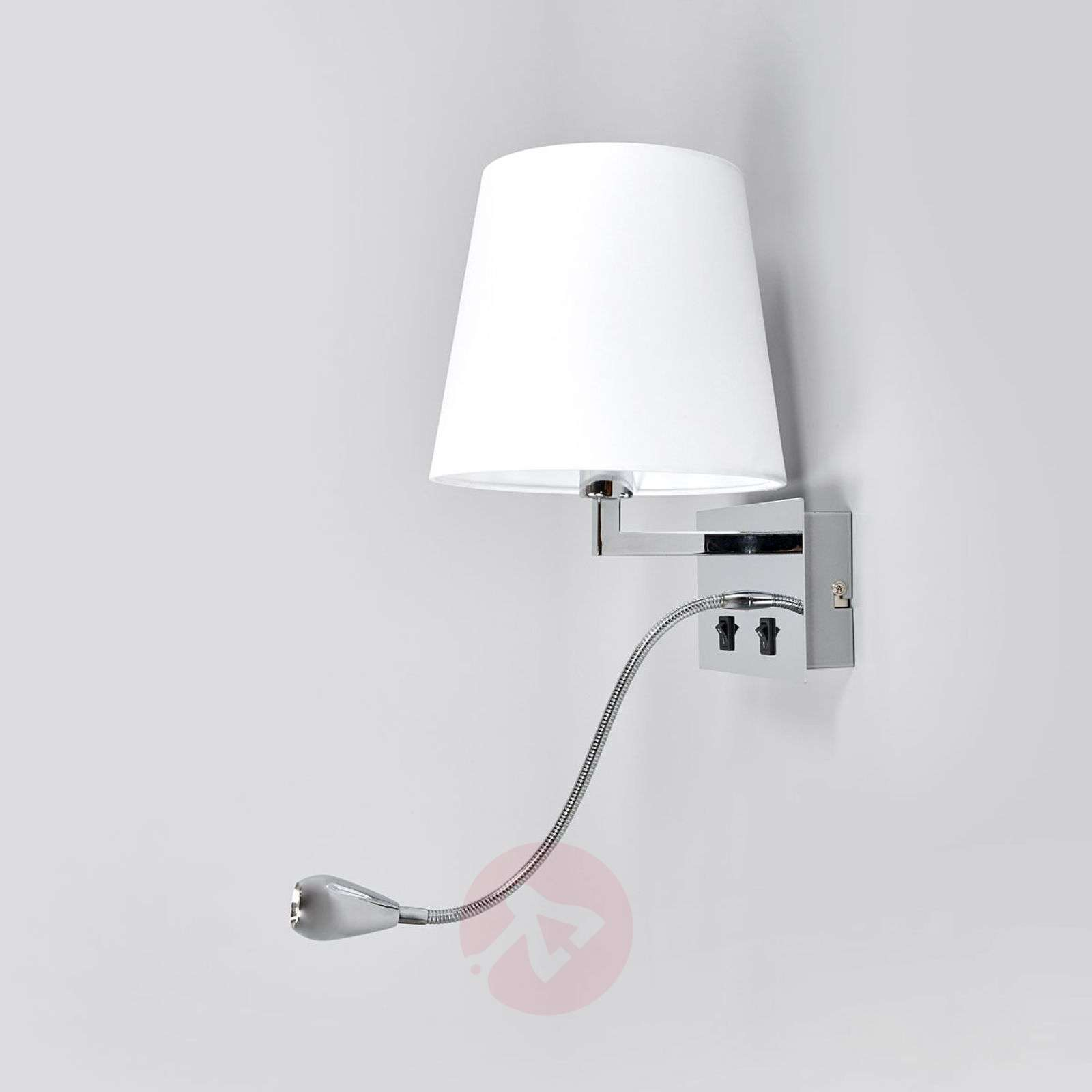 Fabric wall light Leonella with LED reading lamp-9641097-02