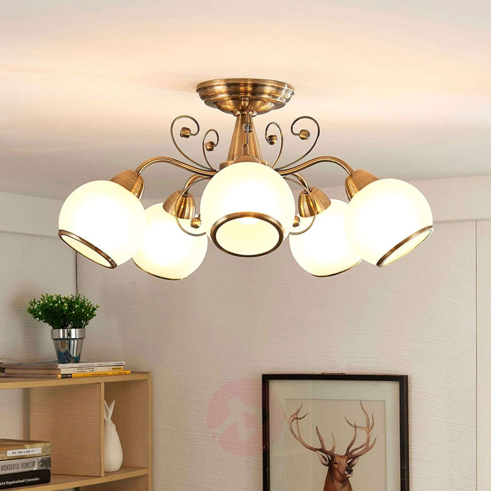 Fantastic ceiling light Corentin, antique brass-9620753-02