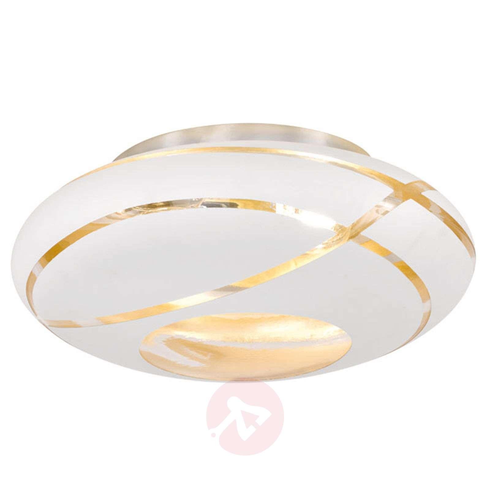 Farona glass ceiling light with golden inside-9005463-01