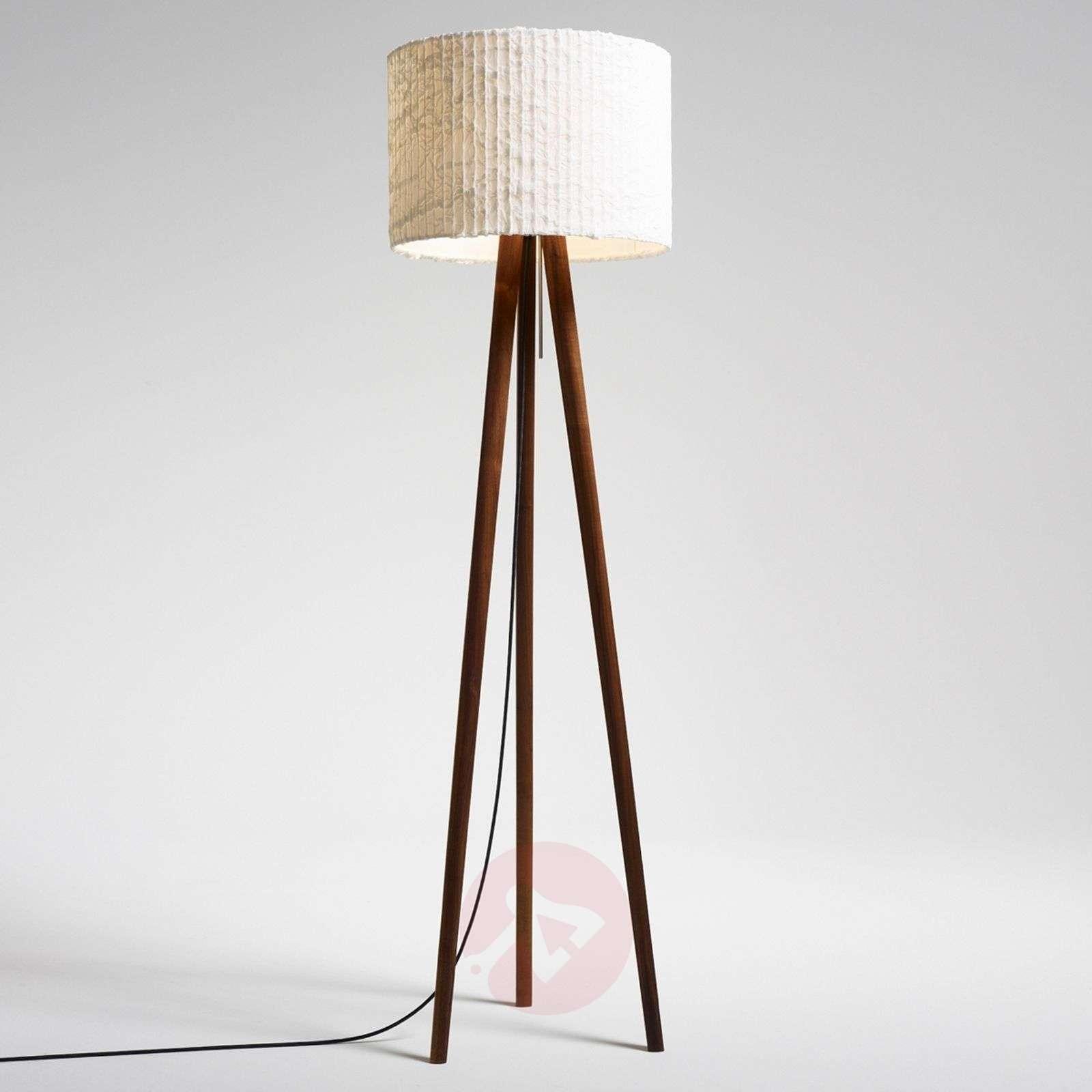 Fascinating floor lamp Sten Cloud, walnut-2600469X-01