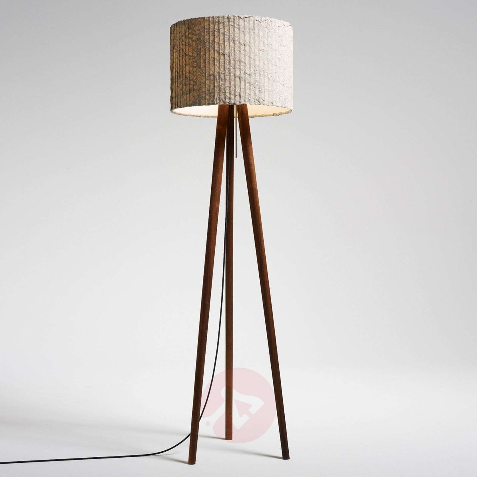 Fascinating floor lamp Sten Cloud, walnut-2600469X-01