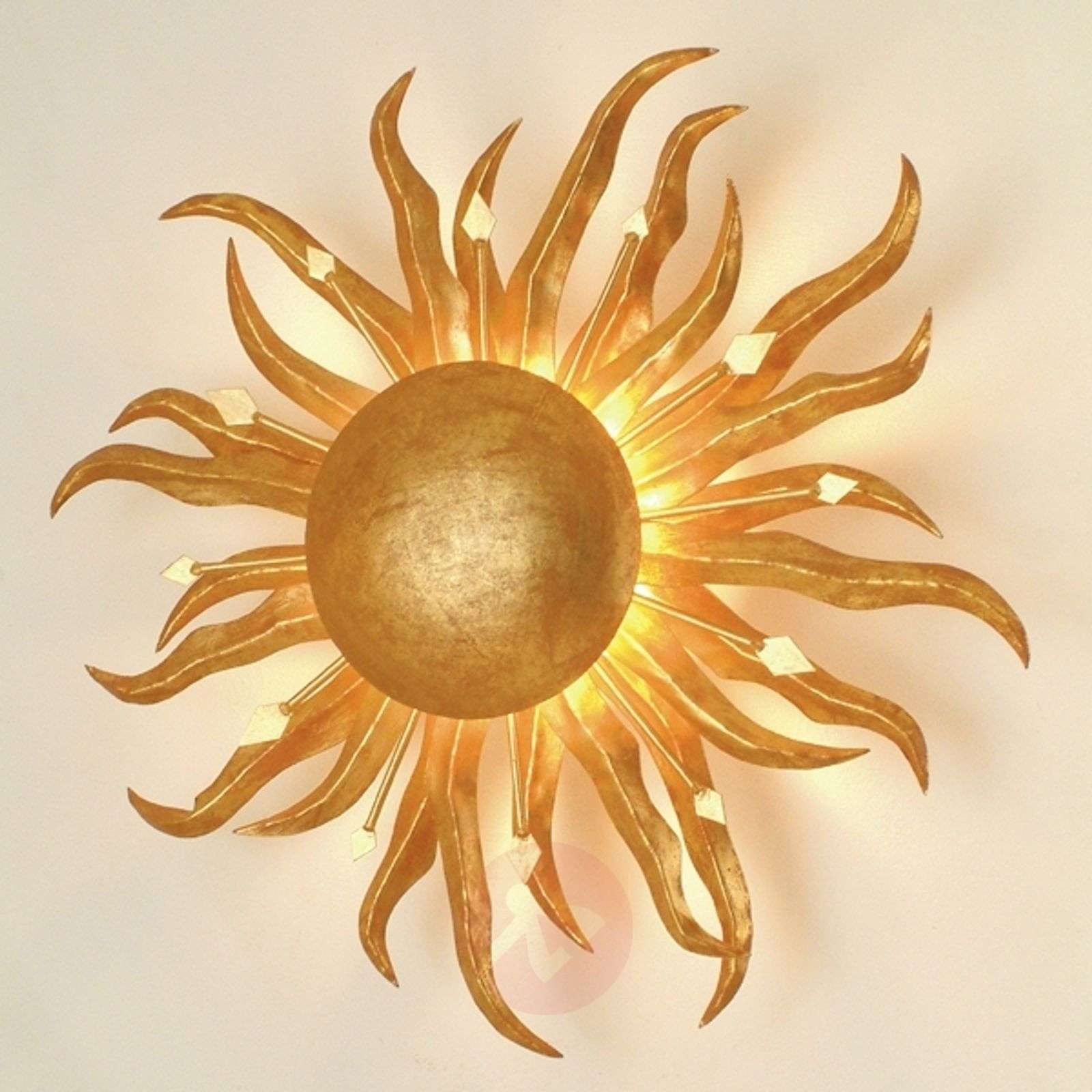 Fascinating wall lamp SONNE GOLD 45 cm-4512059-01