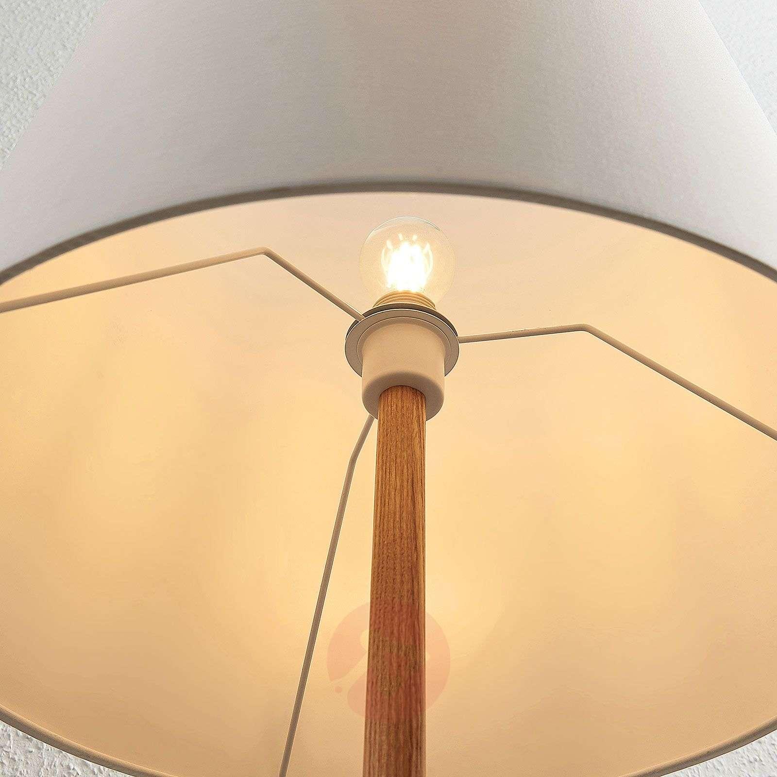 Feyra tripod fabric floor lamp, round, white-9624421-01