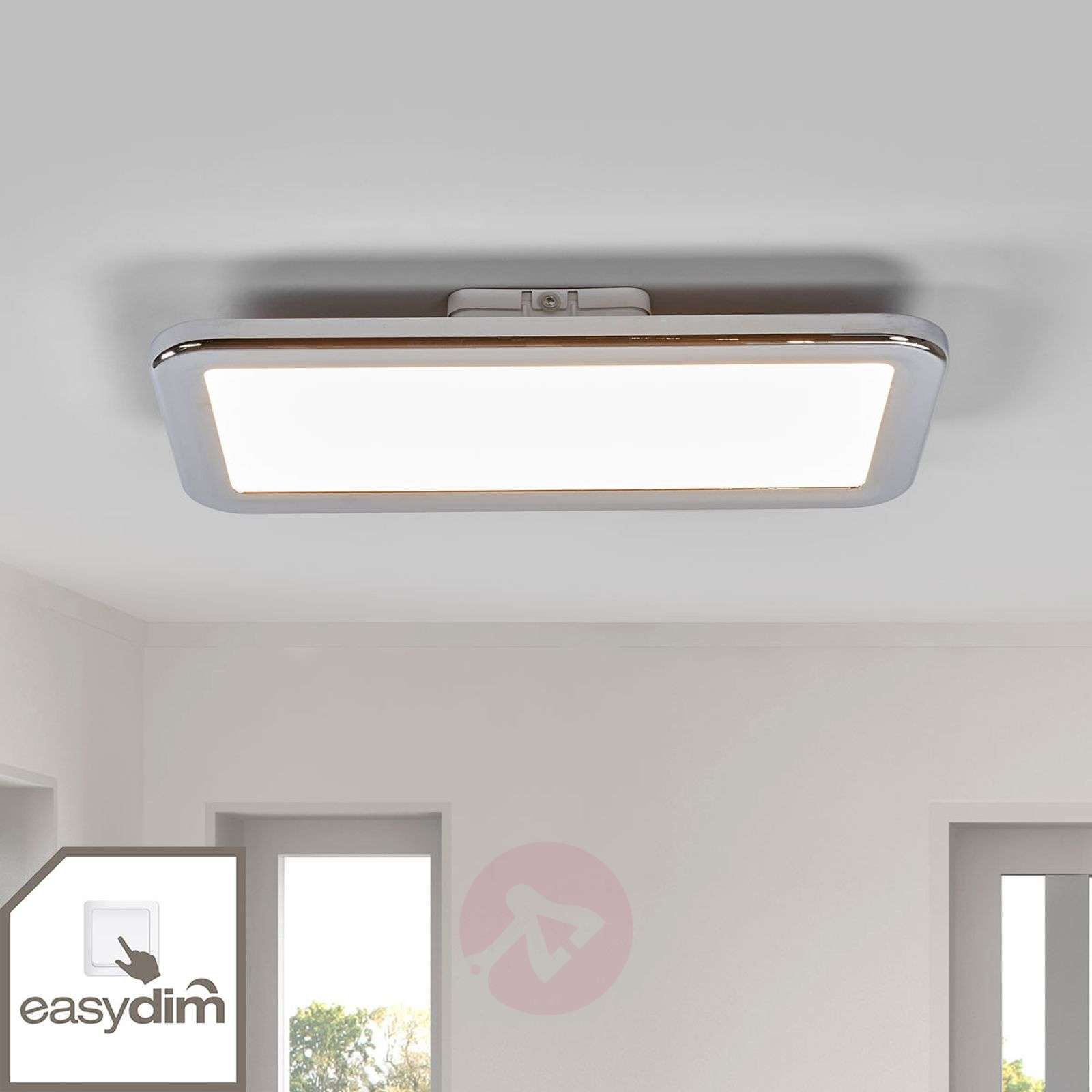 Filina chrome LED bathroom ceiling light, Easydim-1558103-01
