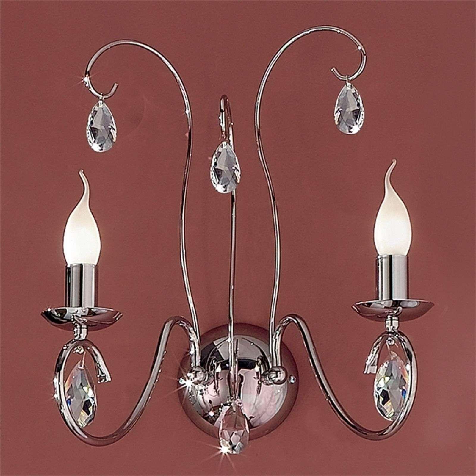 Fioretto Wall Light Graceful Two Bulbs Chrome-7253037-01