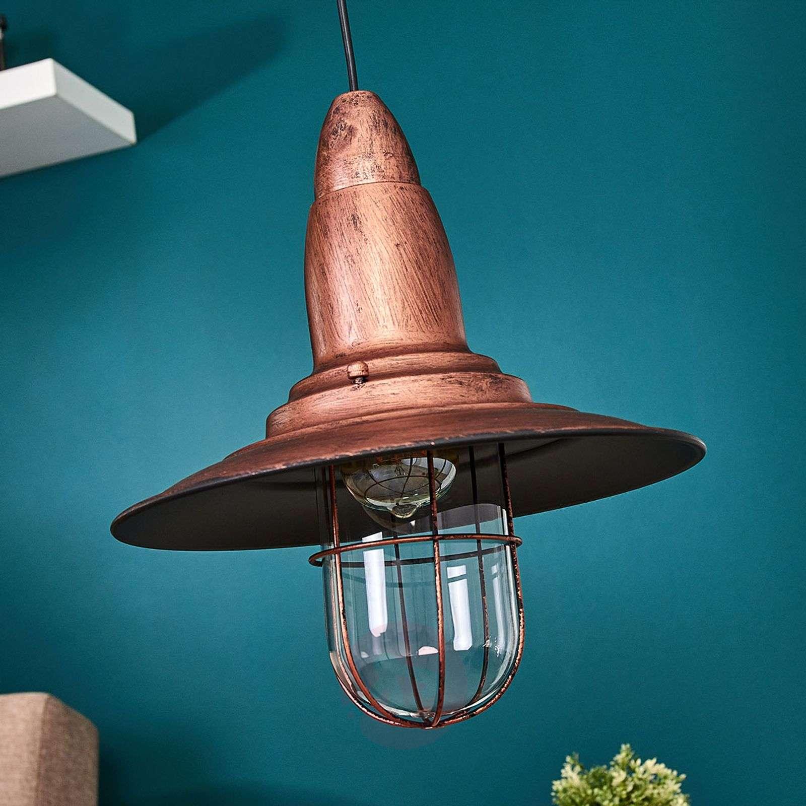 Fisherman Pendant Light W Antique Copper Finish 9005097 01