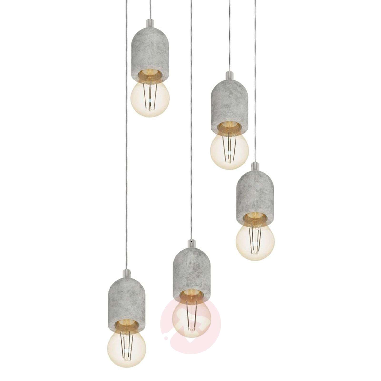 Five-bulb Silvares pendant light-3031818-01