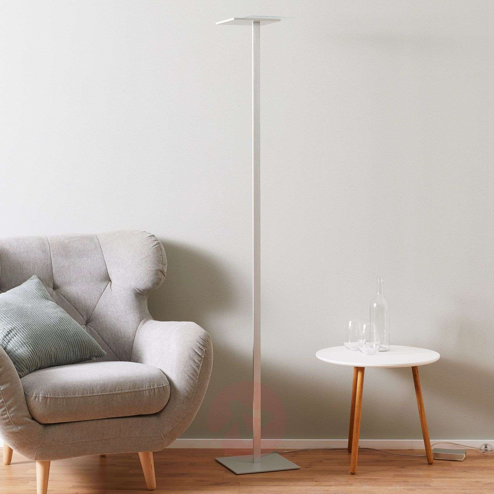Flat LED floor lamp with touch dimmer-1556099-03