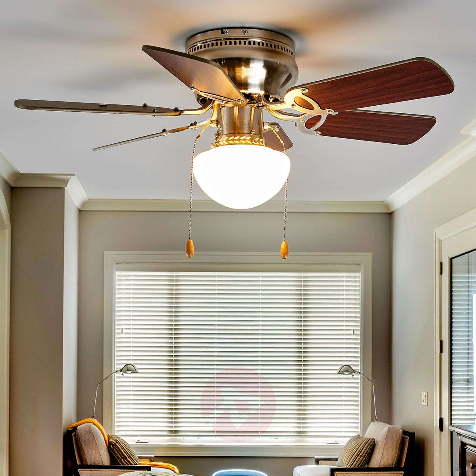 Flavio ceiling fan with light and six blades-4018096-010
