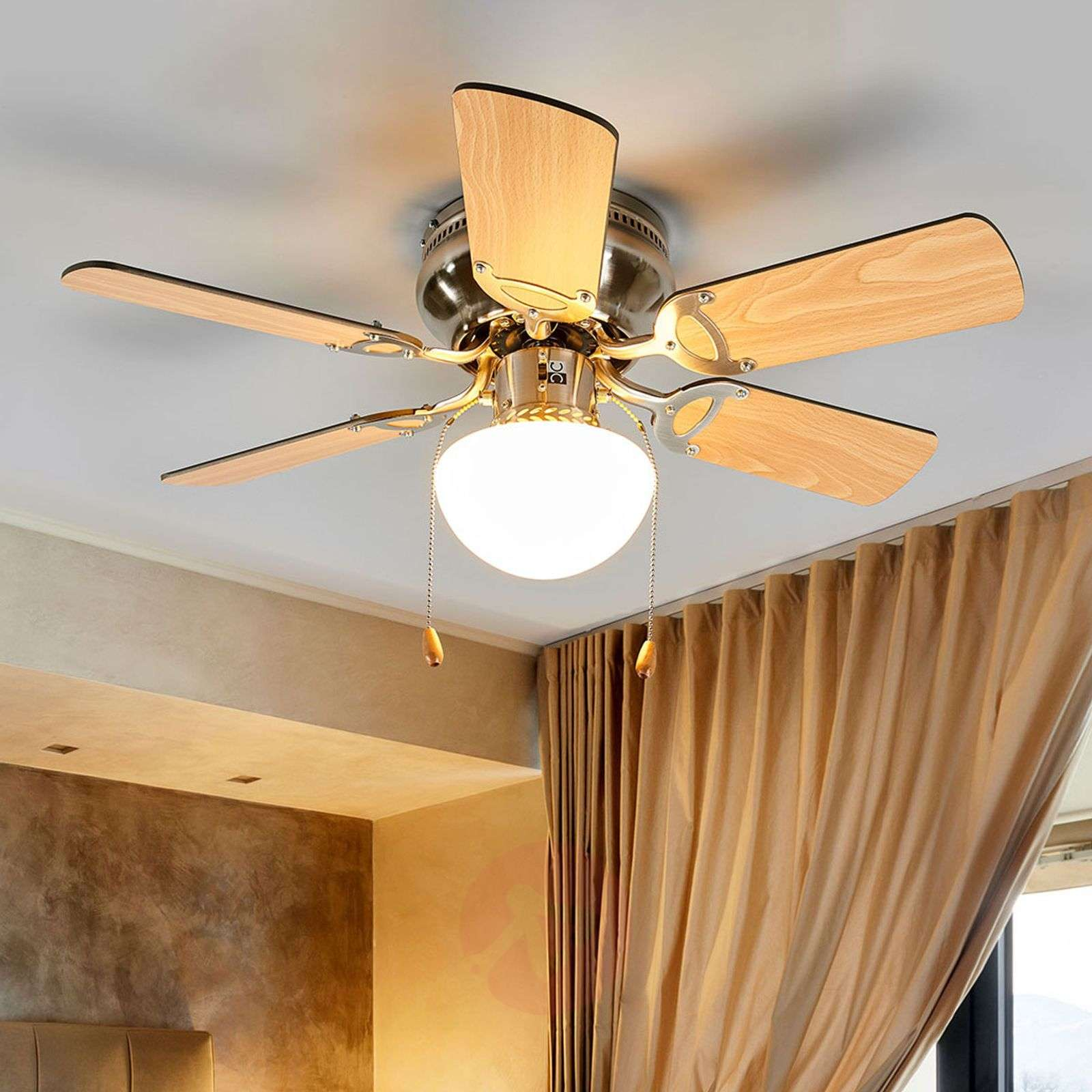 Flavio six-blade ceiling fan with light-4018095-010