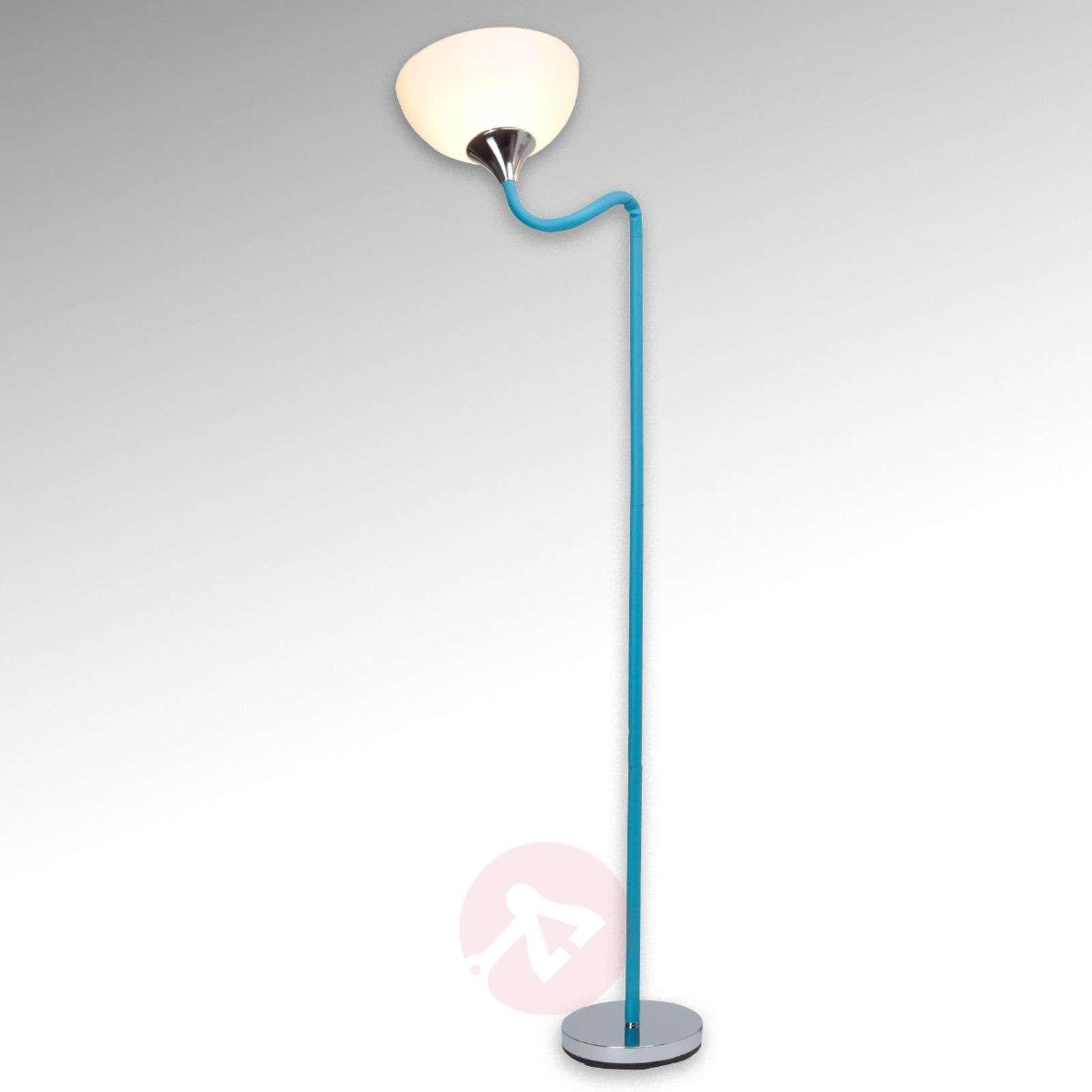 Flexible head blue floor lamp lucie lights flexible head blue floor lamp lucie 1509003 01 mozeypictures Choice Image