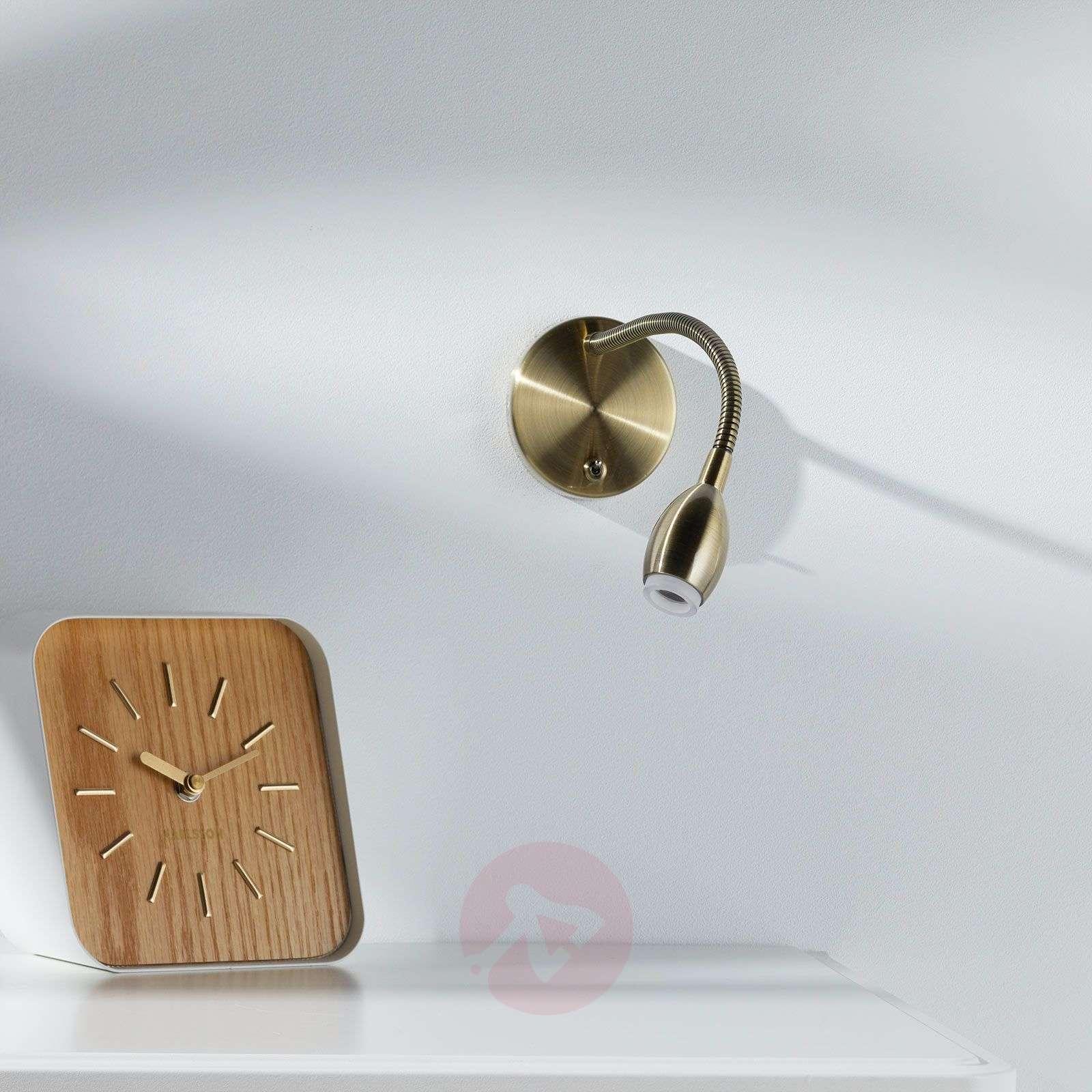 Flexible LED wall light MARTA, antique brass-1050010-01