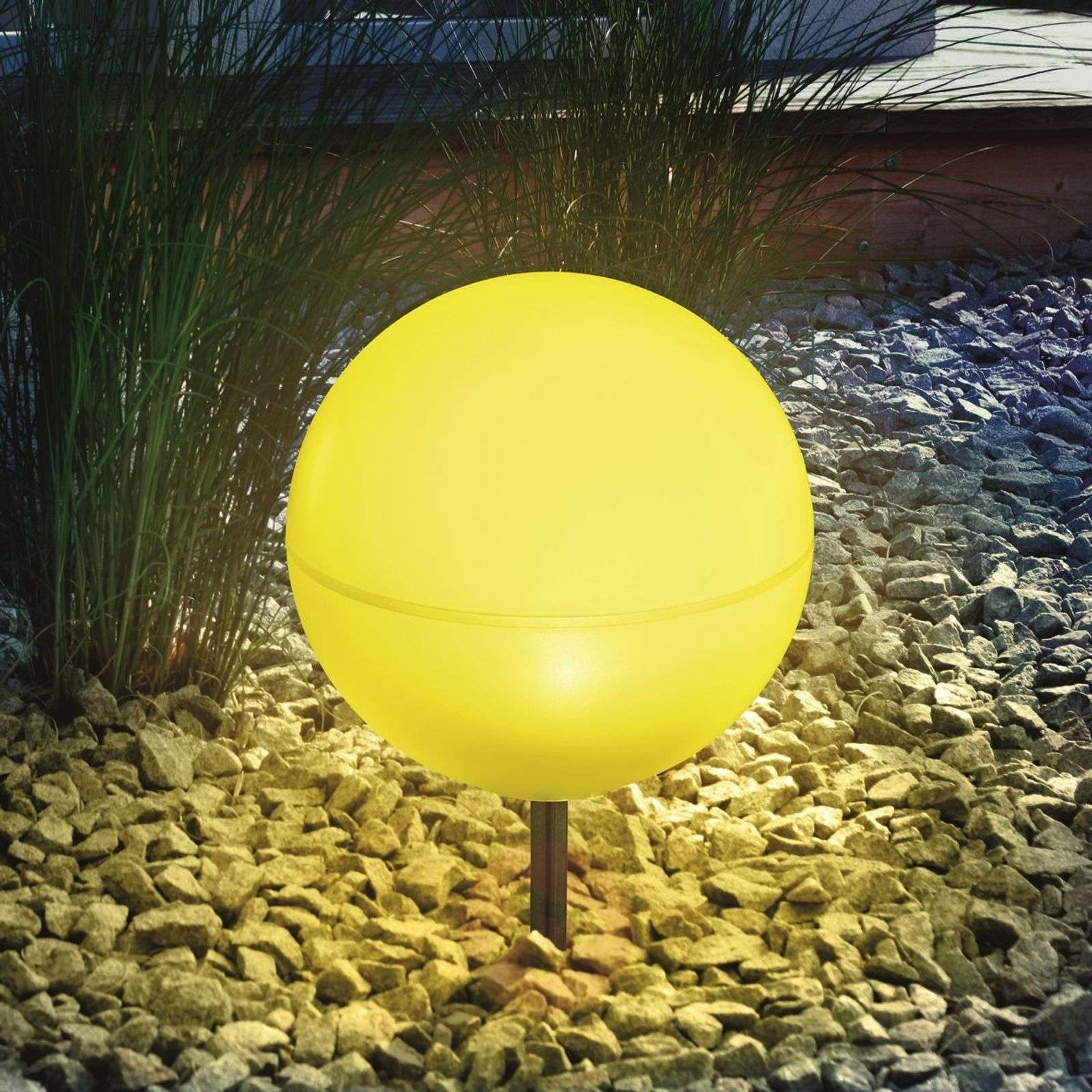 Flexible solar light ball, yellow-3012199-01