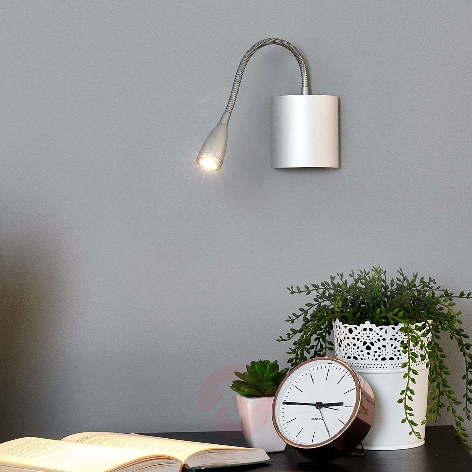 Flexible wall reading light Anneli with LED-9976003-01