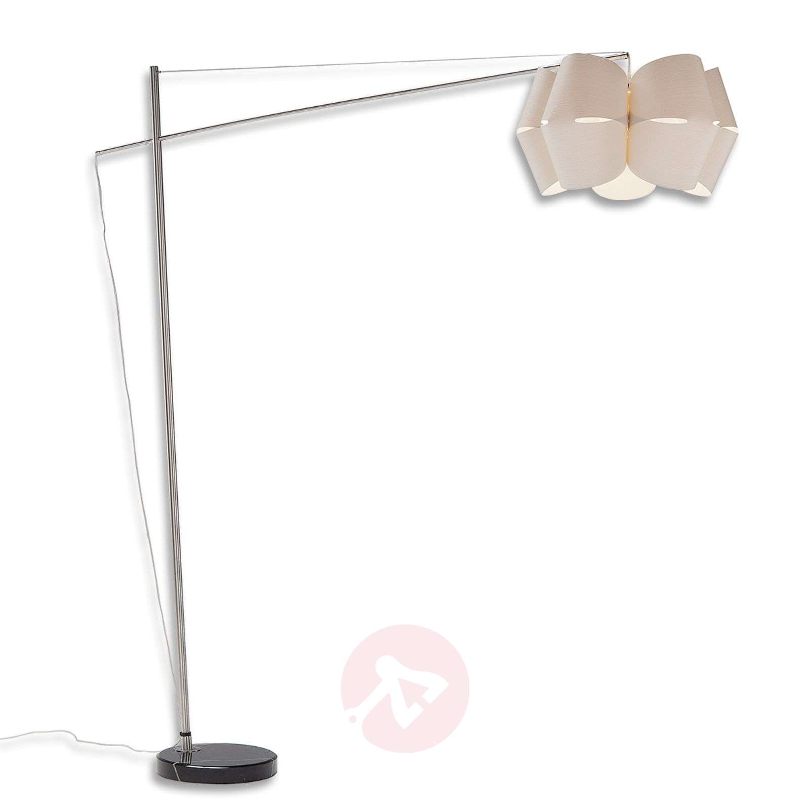 Floor lamp Bridge in white larch wood-1056064-01