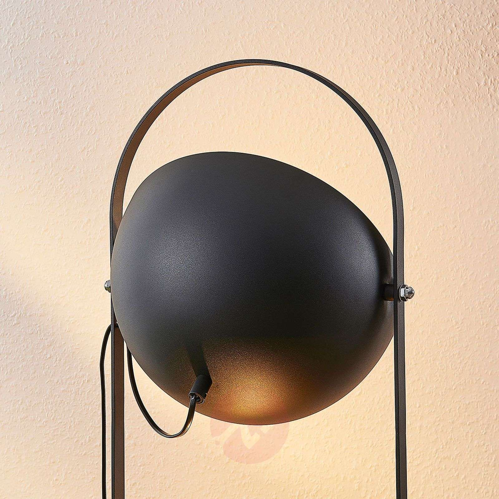 Floor lamp Muriel, 3-bulb, black/gold-9624226-02