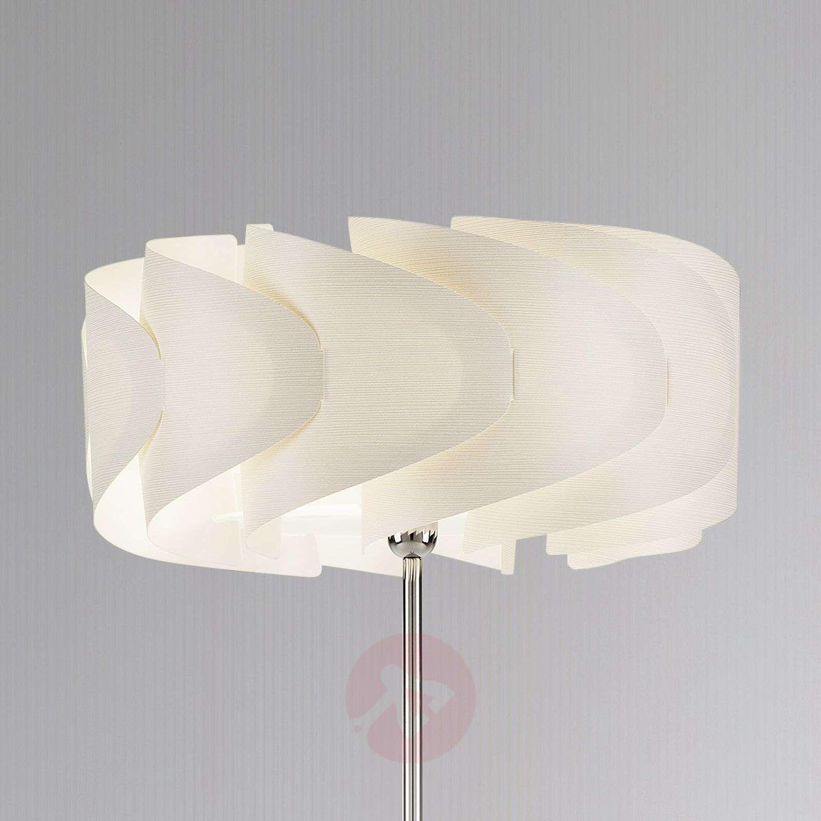 Floor lamp Piantana Ellix in white wood finish-1056077-01