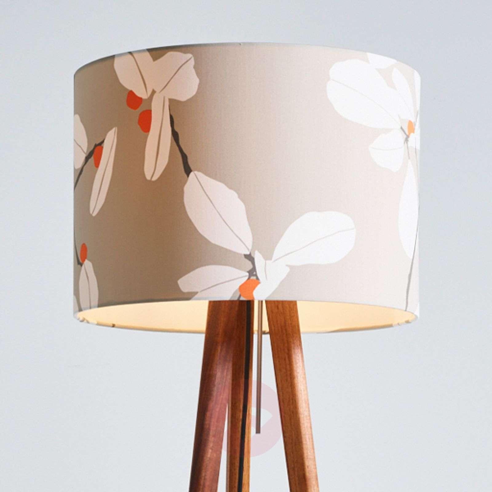 Floor lamp Sten Flower with a wooden tripod-2600527-01