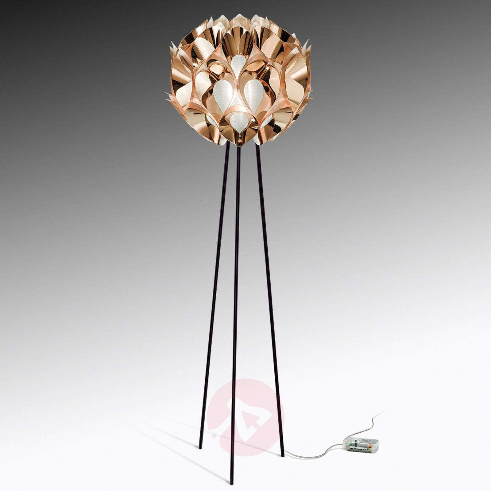 Flora designer floor lamp in copper-8503239-01