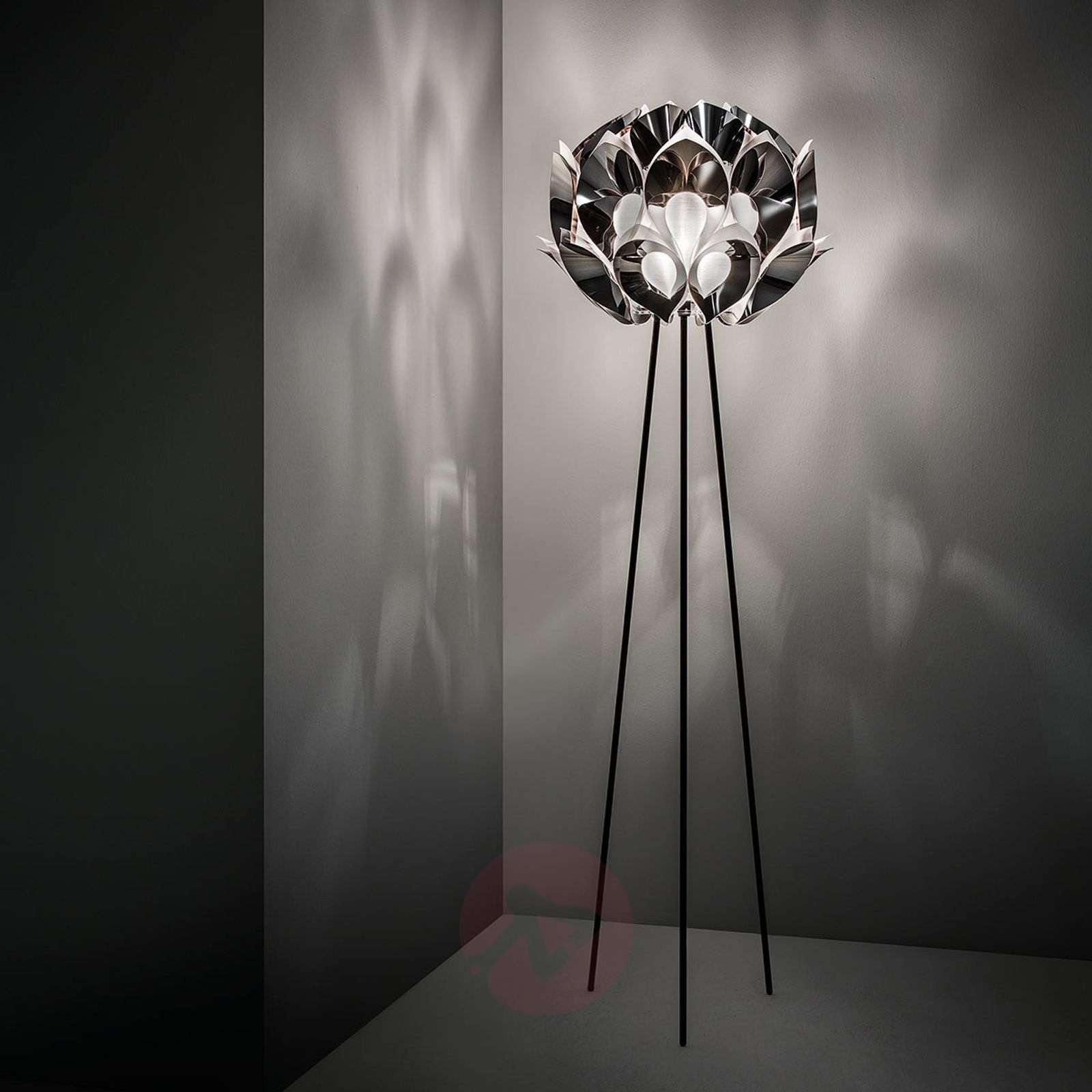 Flora designer floor lamp, silver-8503238-01