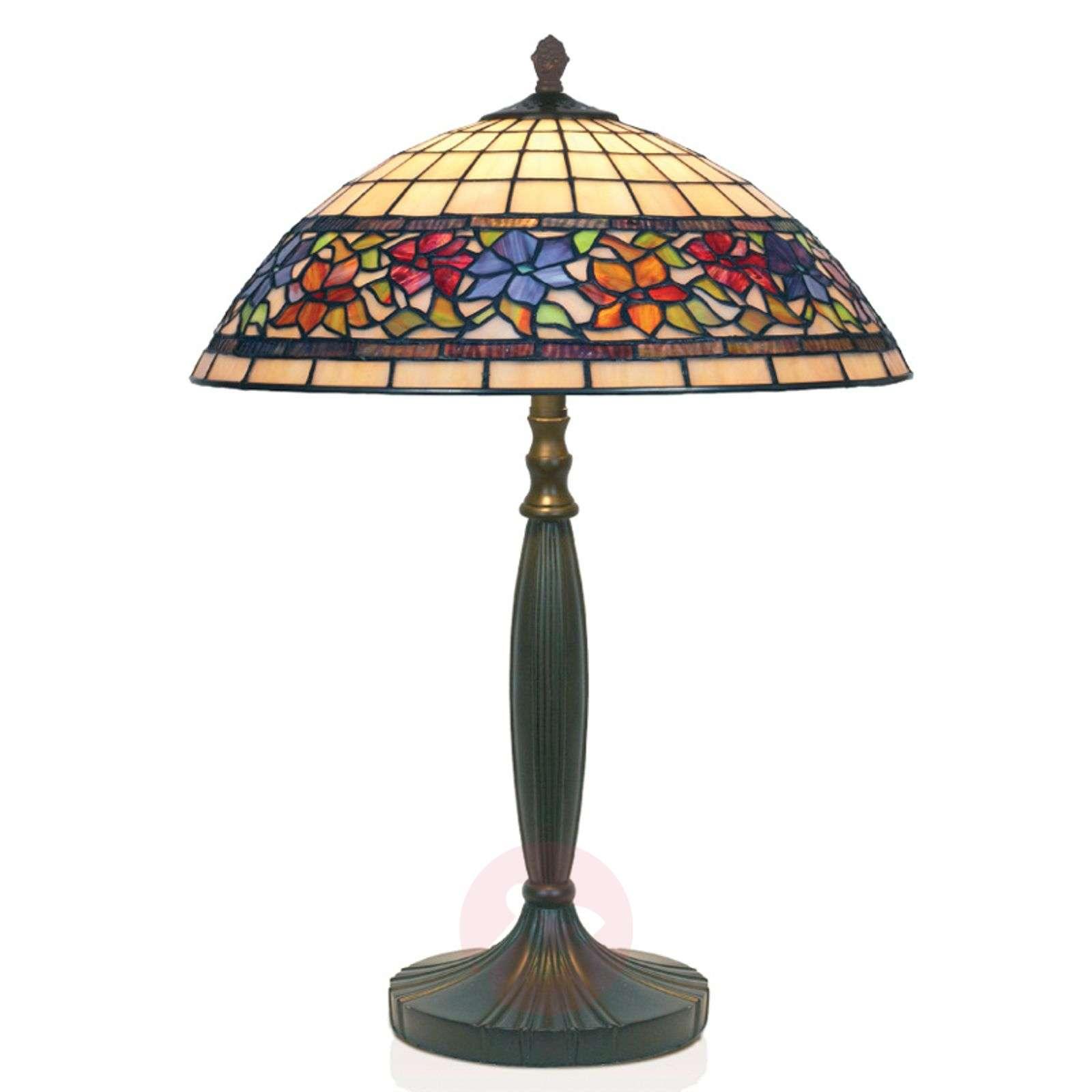 FLORA handmade Tiffany-style table lamp-1032128-01