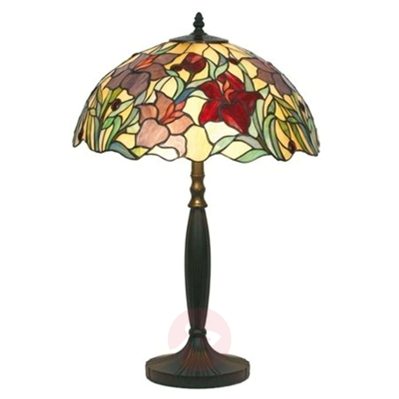 Floral table lamp ATHINA, handmade, 62 cm-1032138-01