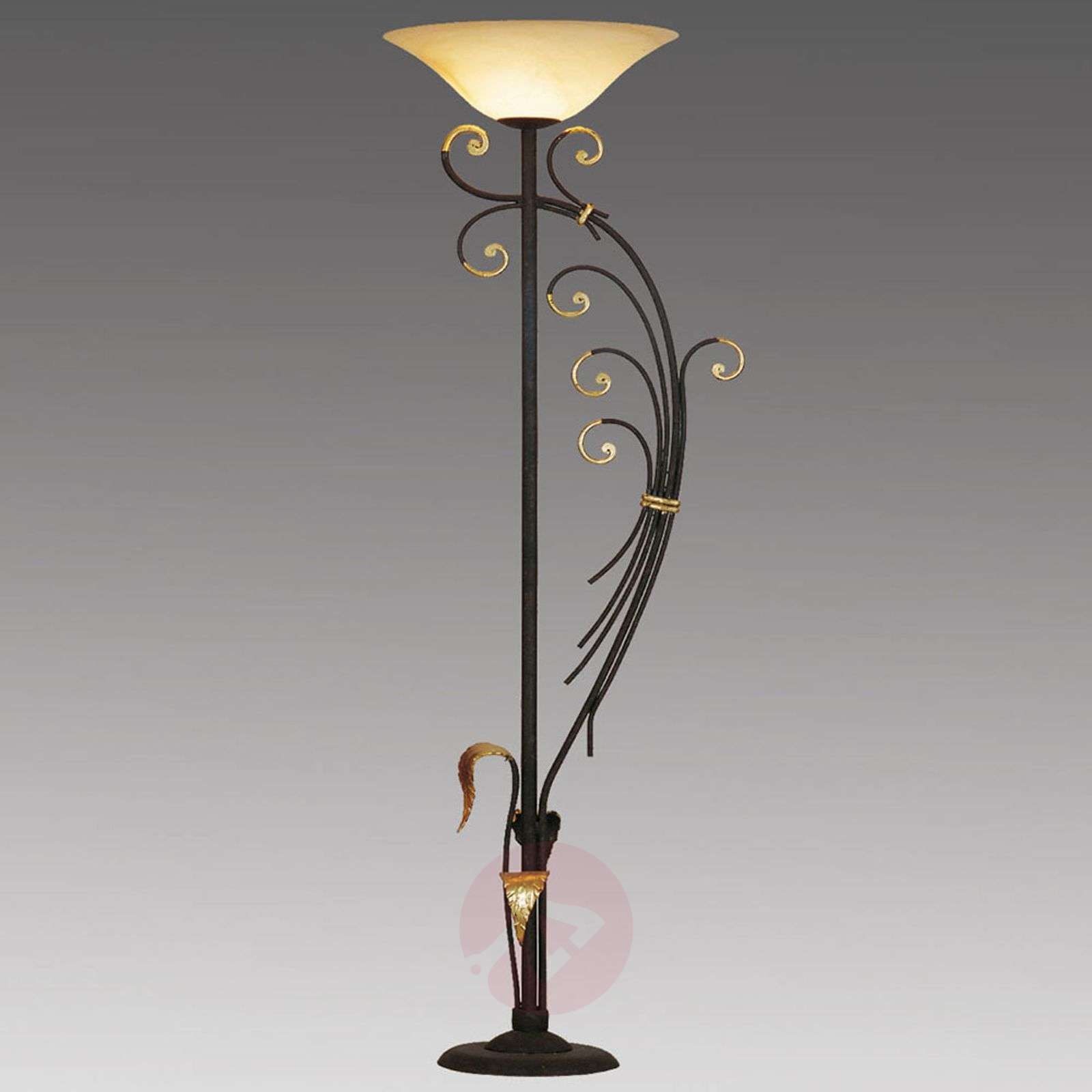 Florence floor lamp with gold leaf decoration-6528163-01
