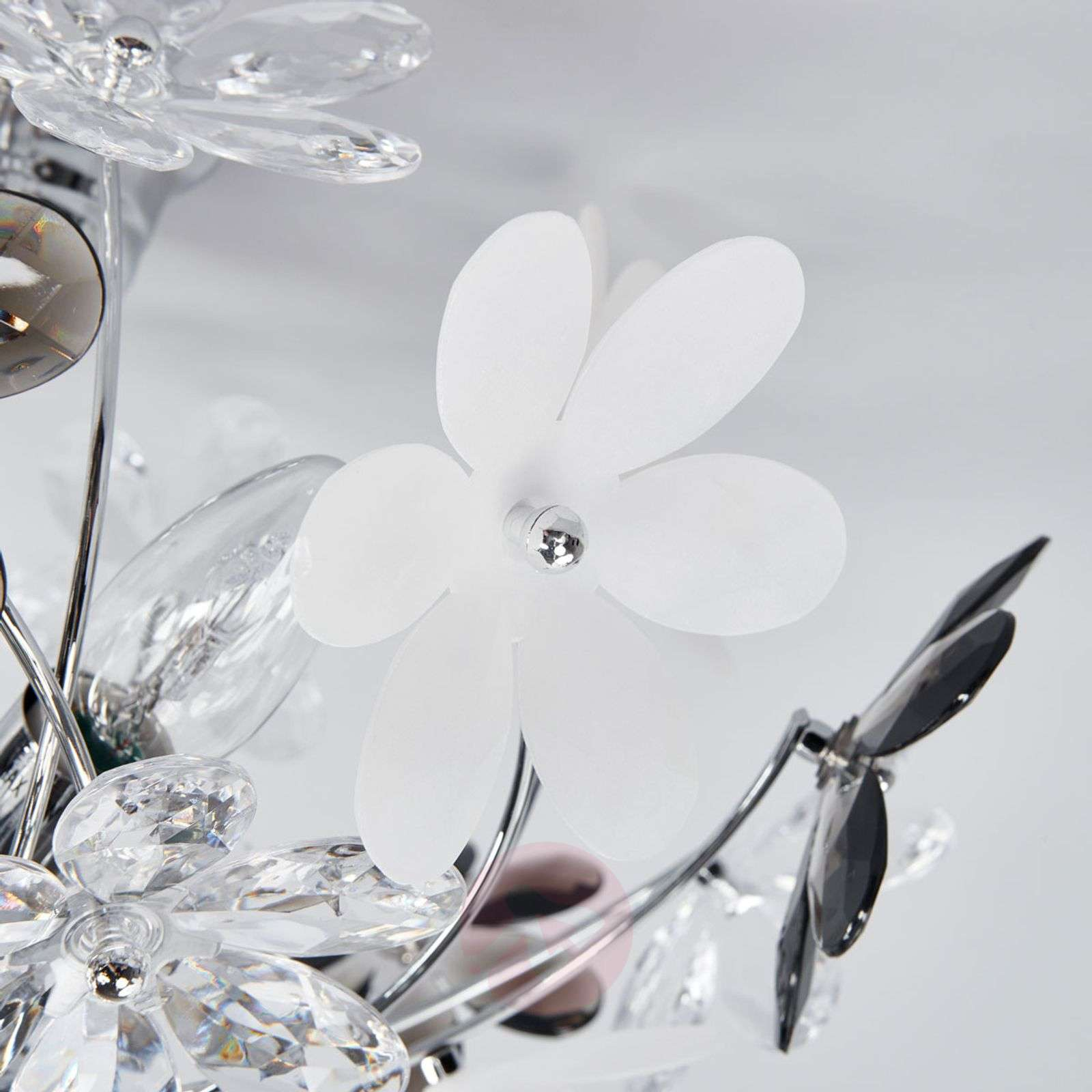 Flower Ceiling Lamp with Transparent Blossoms-4014583-02