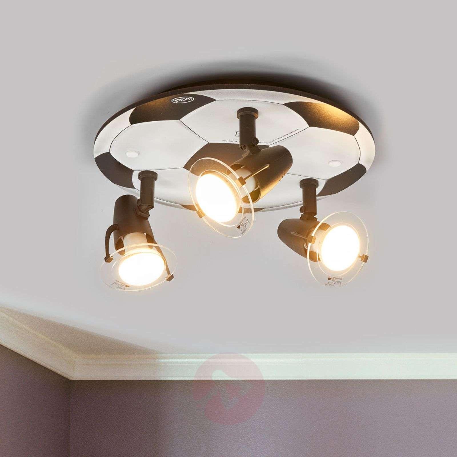 Football ceiling light with 3 bulbs-9505042-01