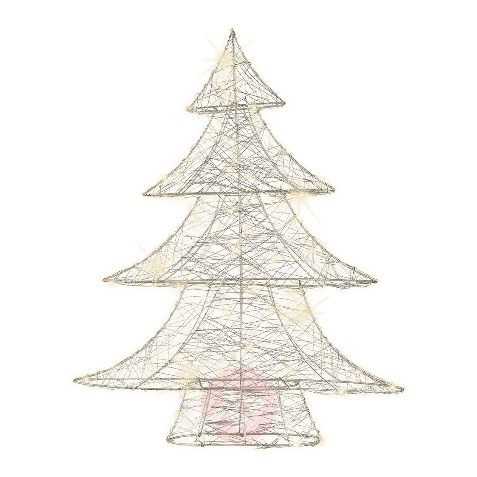 For indoors silver wire tree with micro LEDs-5527170-01