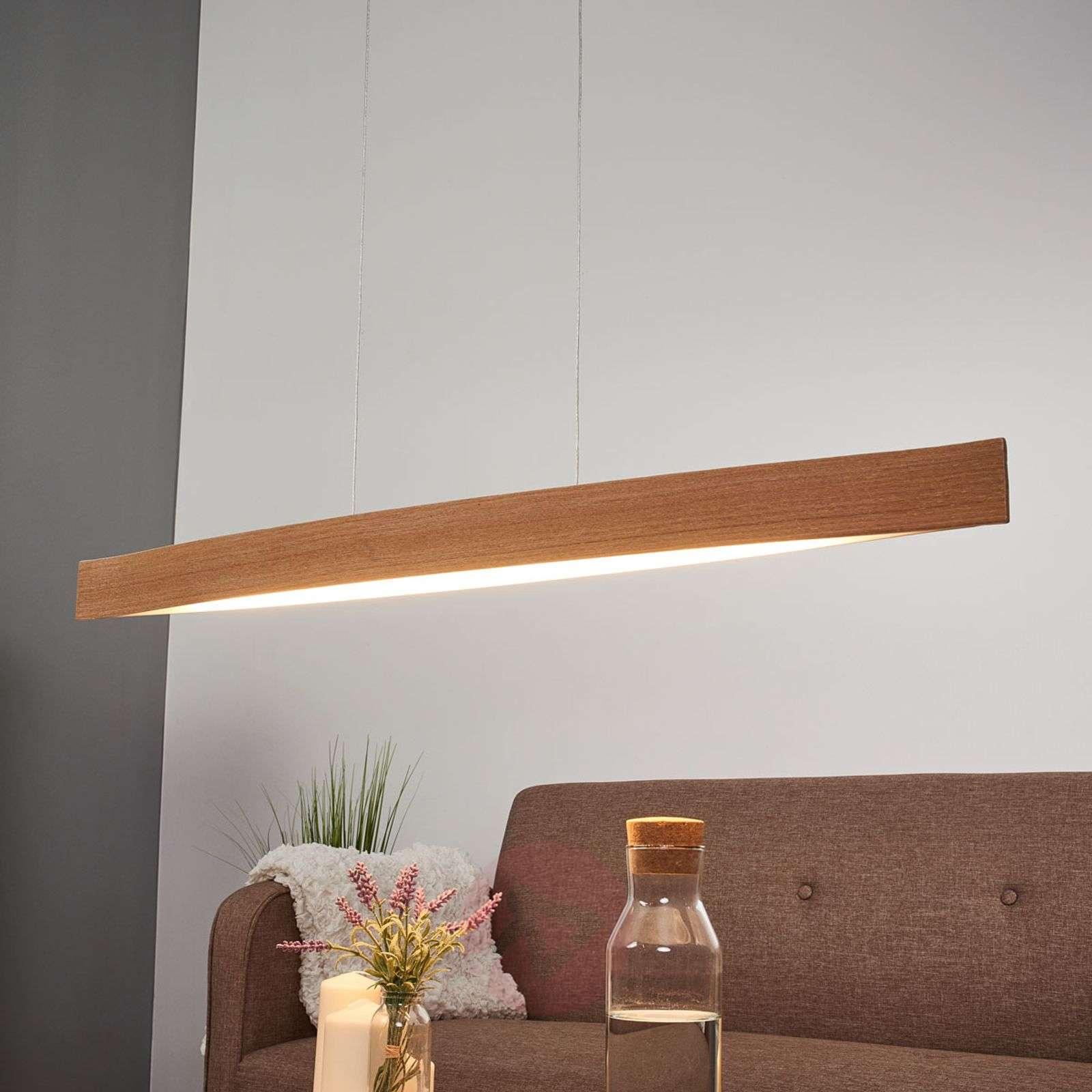Fornes Natural Oak LED Pendant Lamp-3031531-01