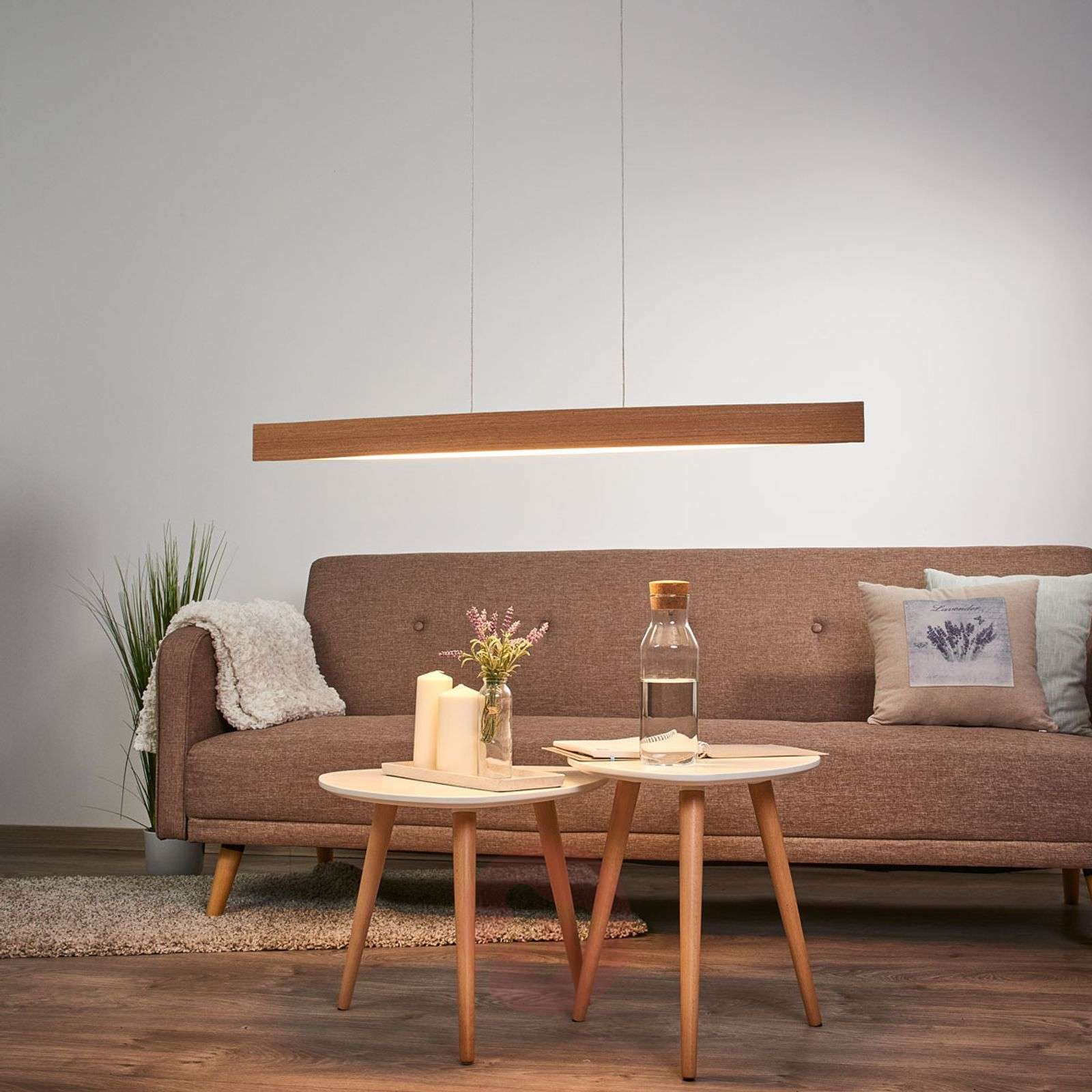 Fornes Natural Oak LED Pendant Lamp-3031531-01