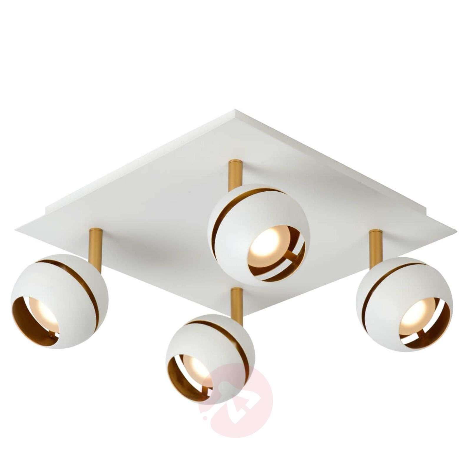 Four-bulb LED ceiling lamp Binari in white-6055233-01
