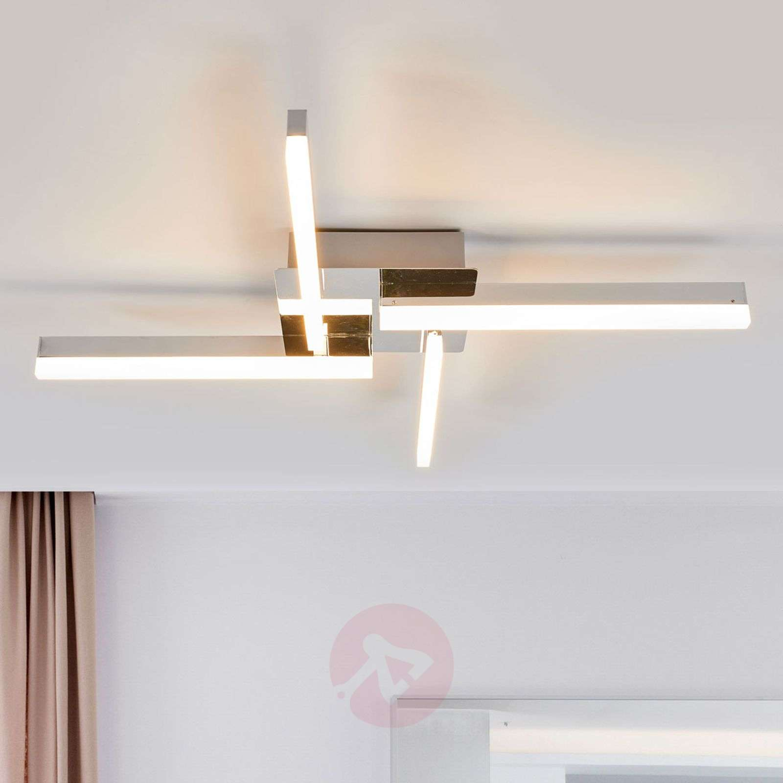 Four-bulb LED ceiling light Patrik, IP44-9641101-03