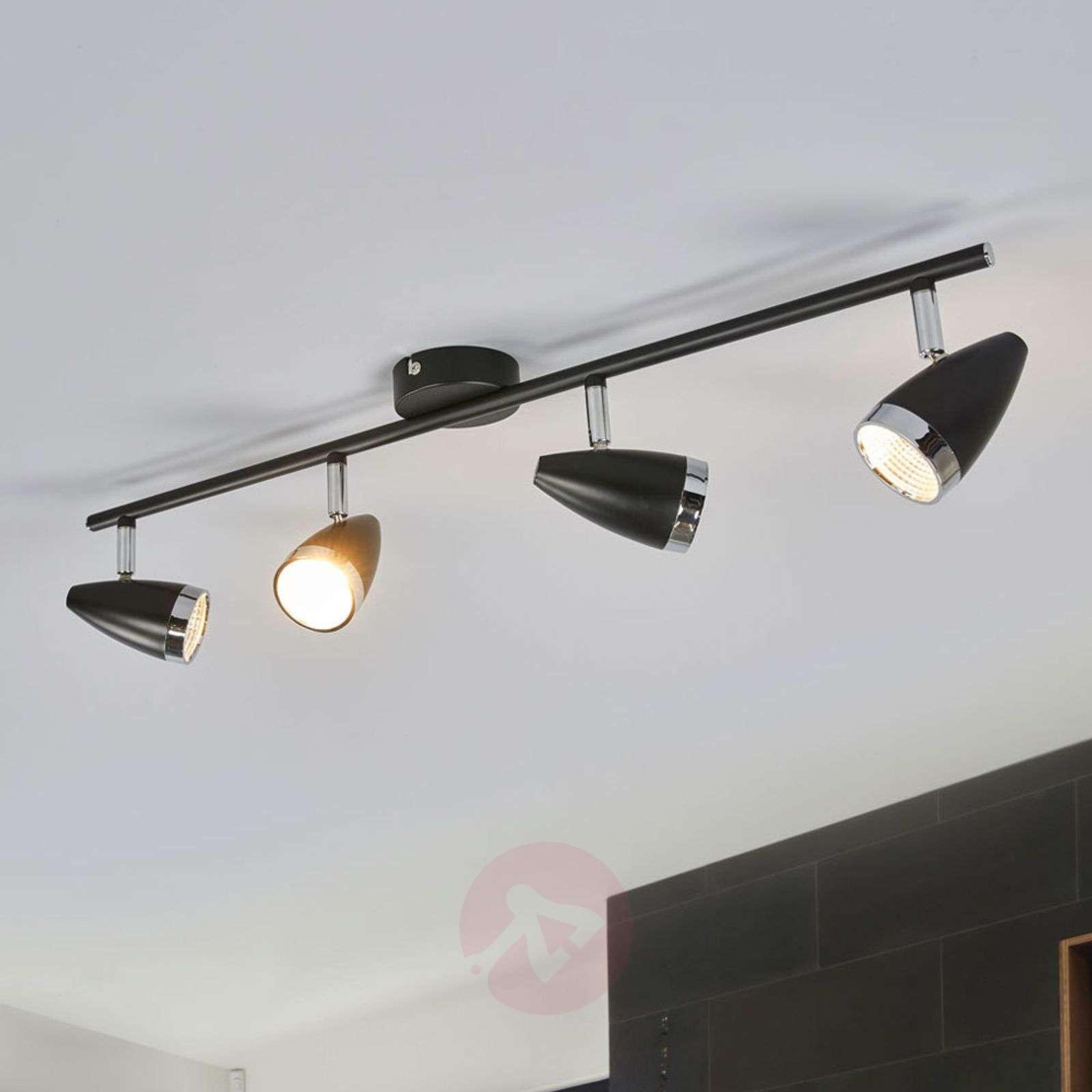 Four bulb led ceiling light ron adjustable