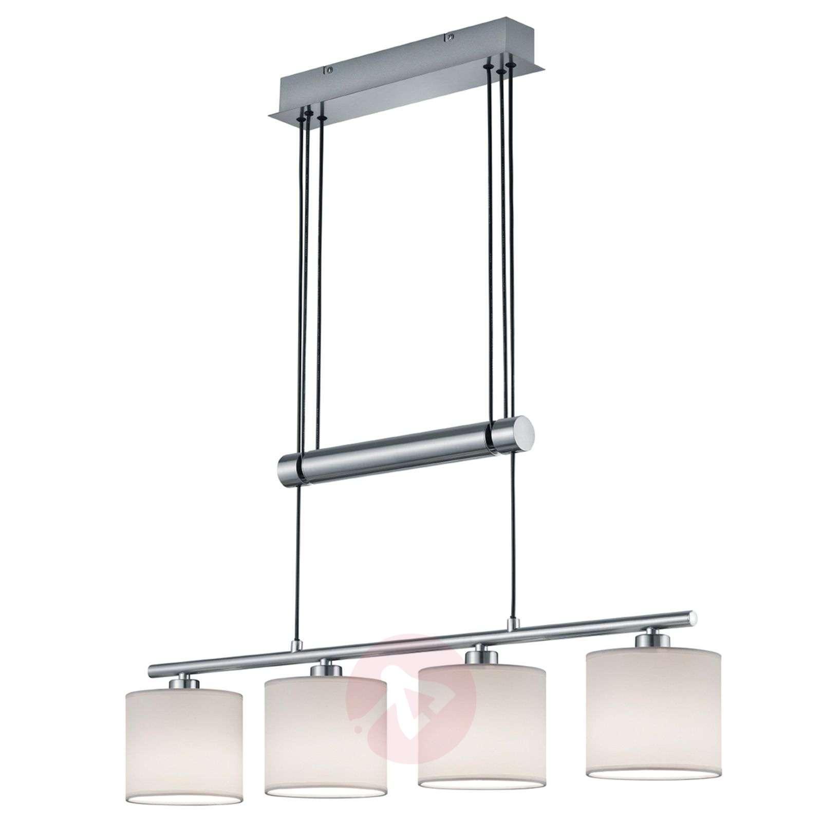 Four-bulb pendant lamp Garda, white-9005268-01