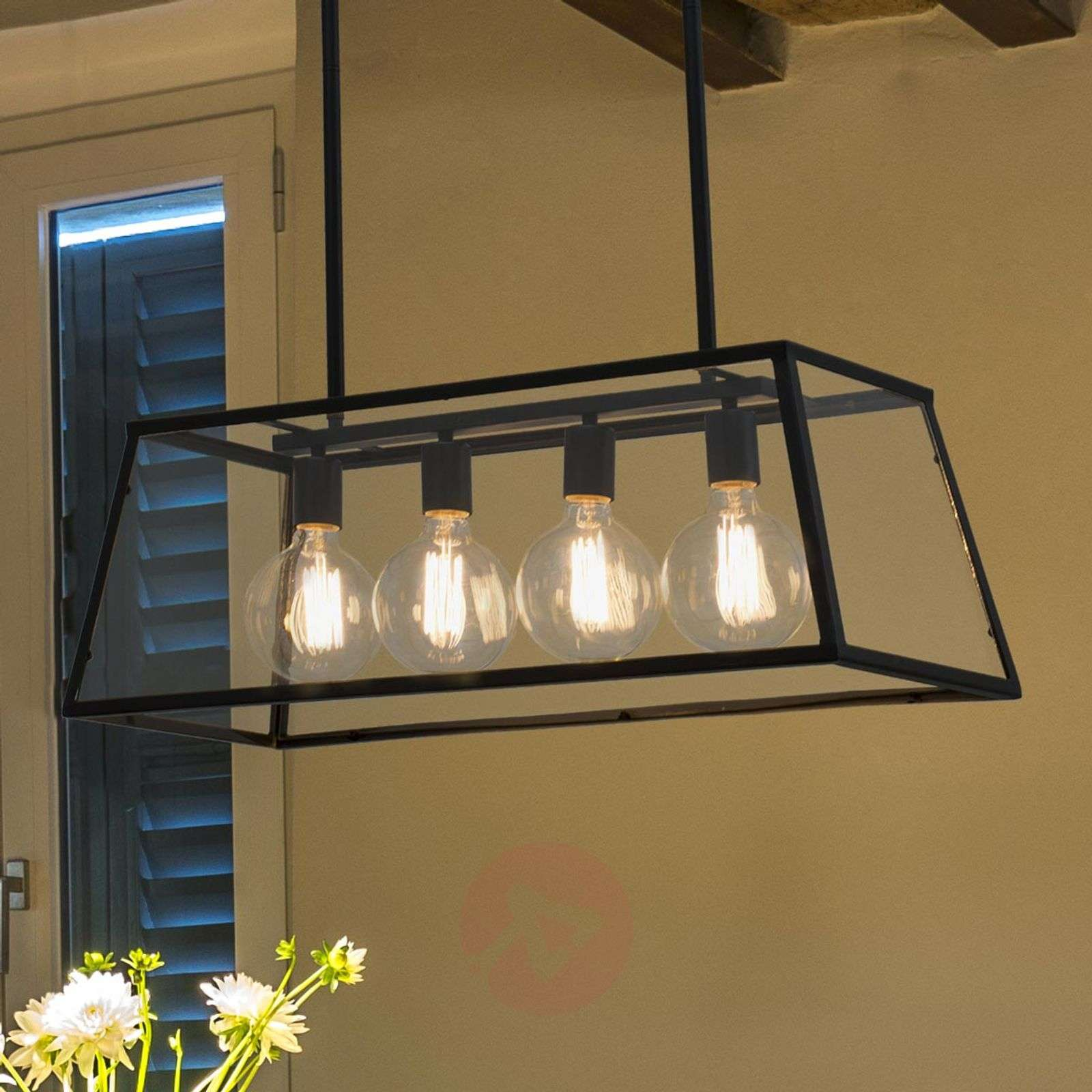Industrial Look Lighting With Fourbulb Rose Hanging Lamp In Industrial Look350719301 Look Lightsie
