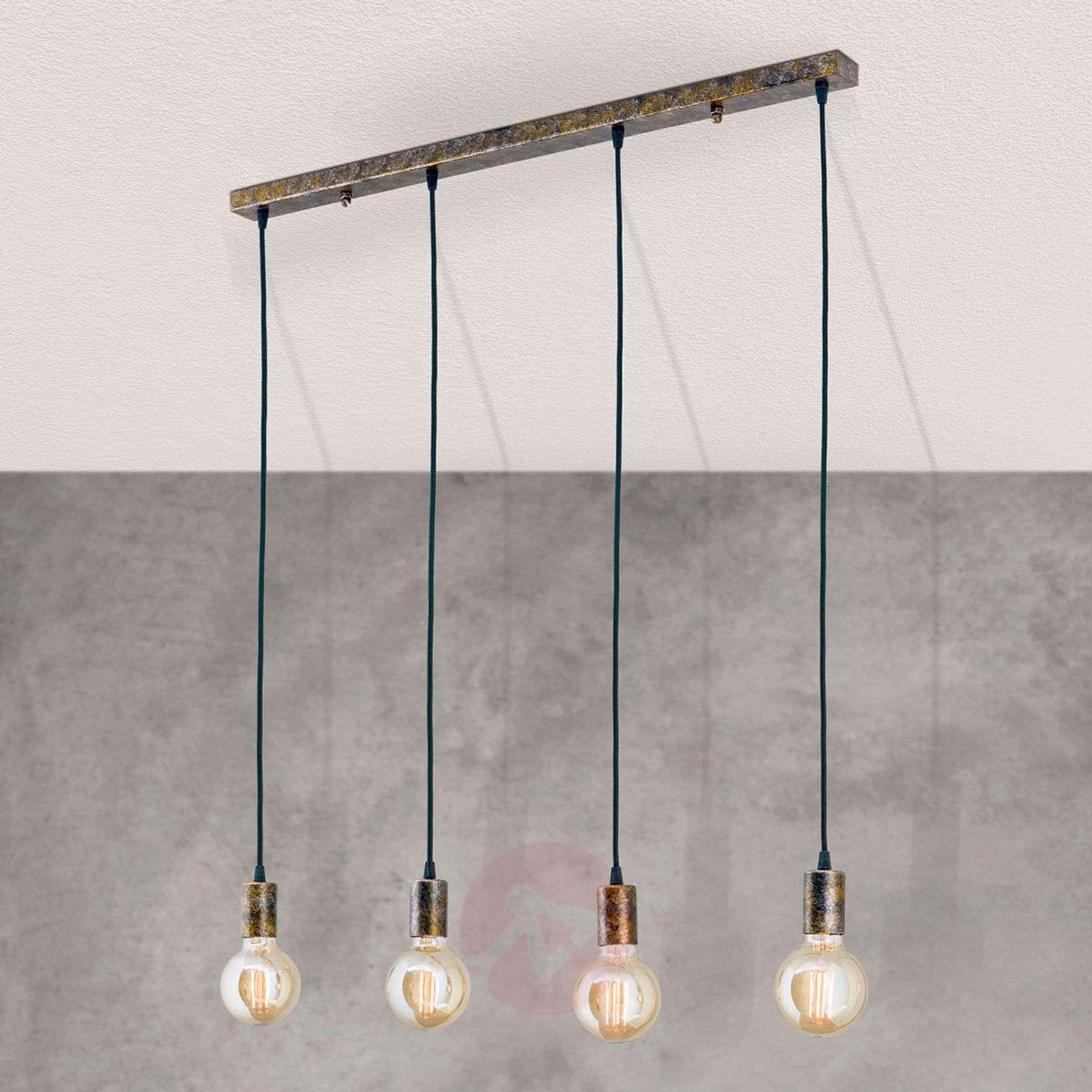 Four-bulb vintage pendant light Rati-7255367-01