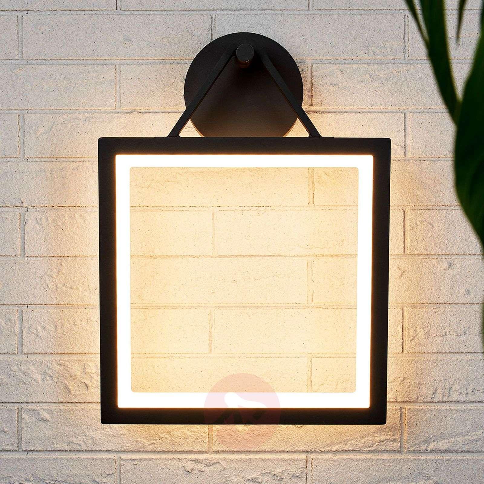 Lamp Led Wall Outdoor Frame Shaped Mirco QderxBCoW