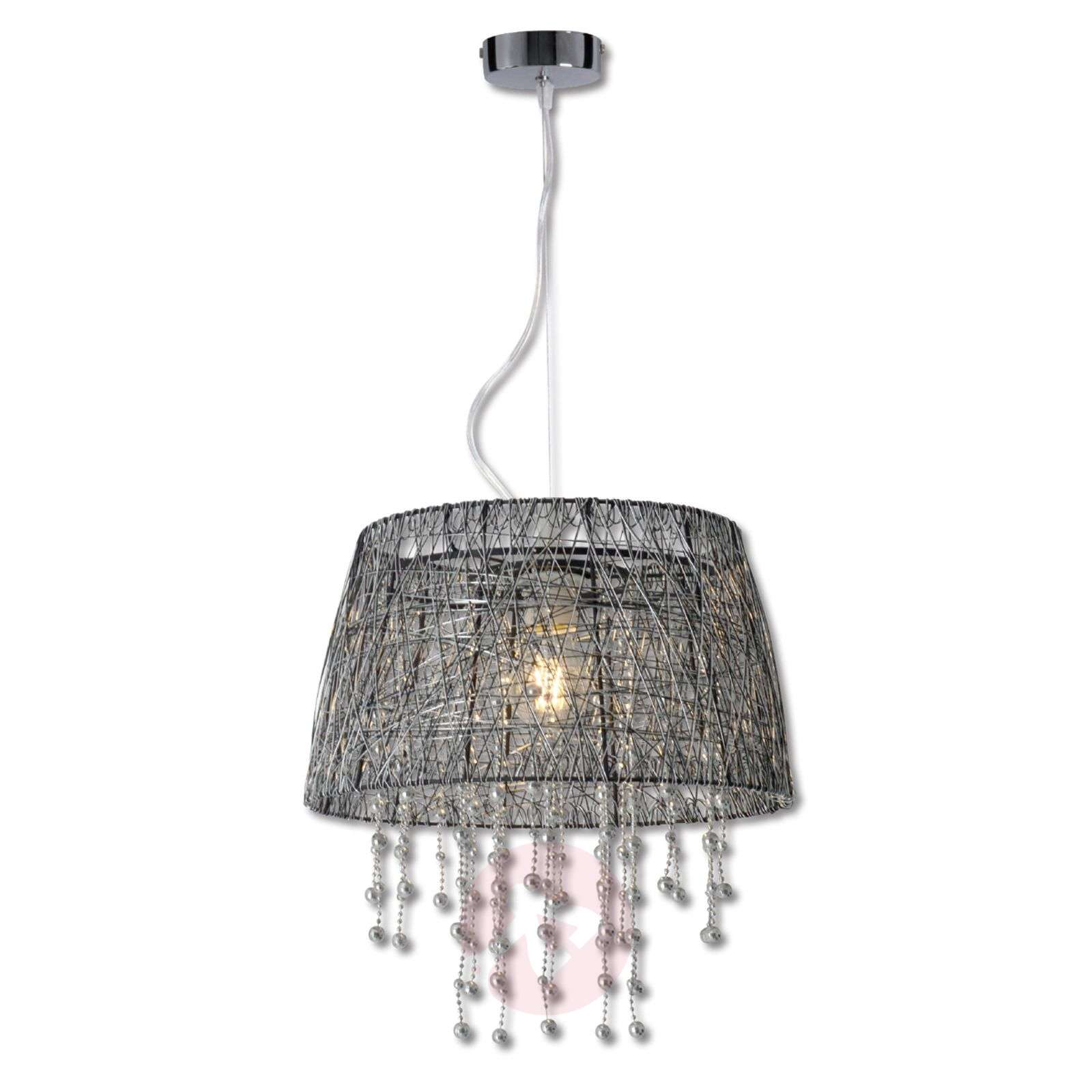Frizzy pendant light with black wire lampshade lights frizzy pendant light with black wire lampshade 7000873 01 aloadofball Choice Image