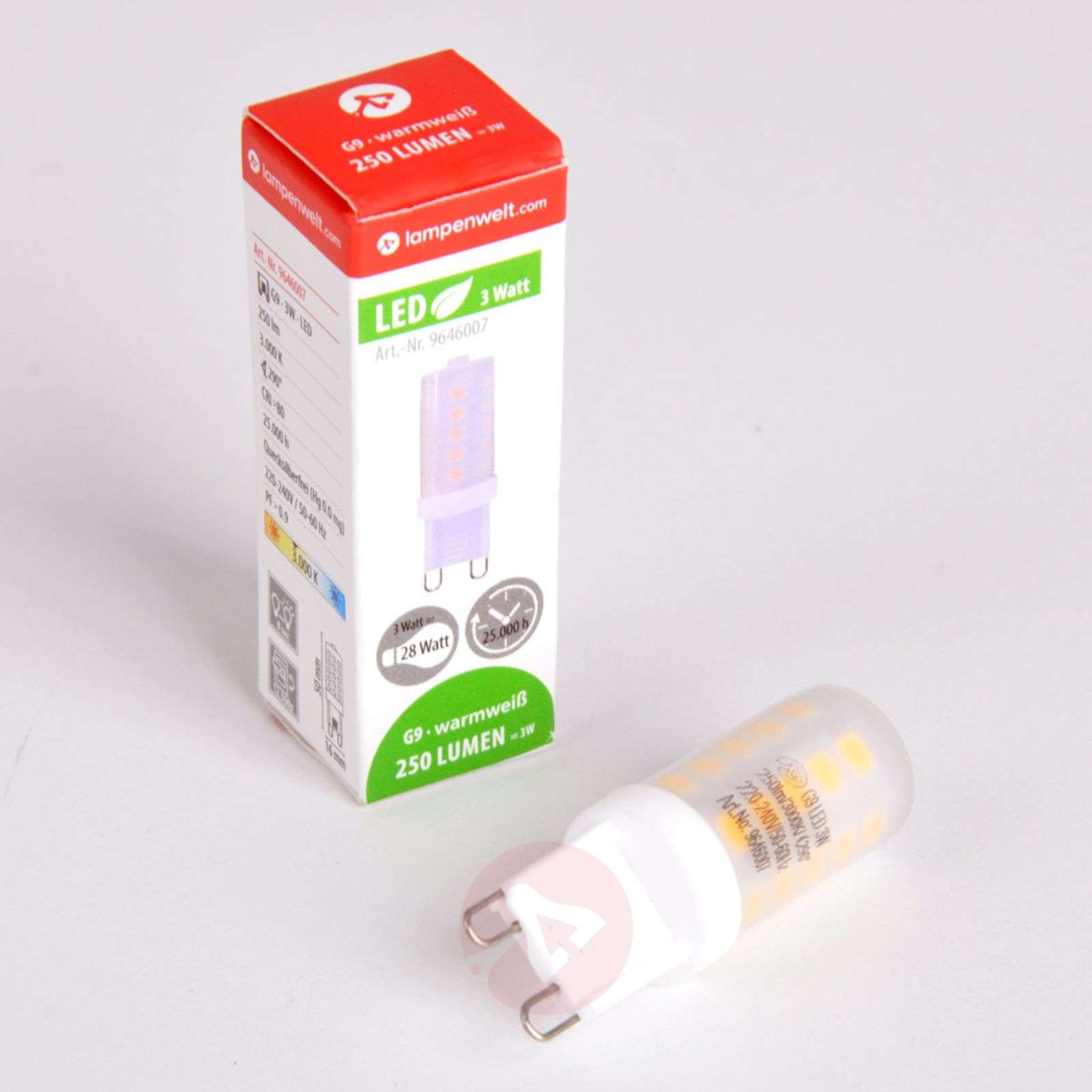 G9 3 W 830 LED bi-pin lamp, dimmable-9646007-06