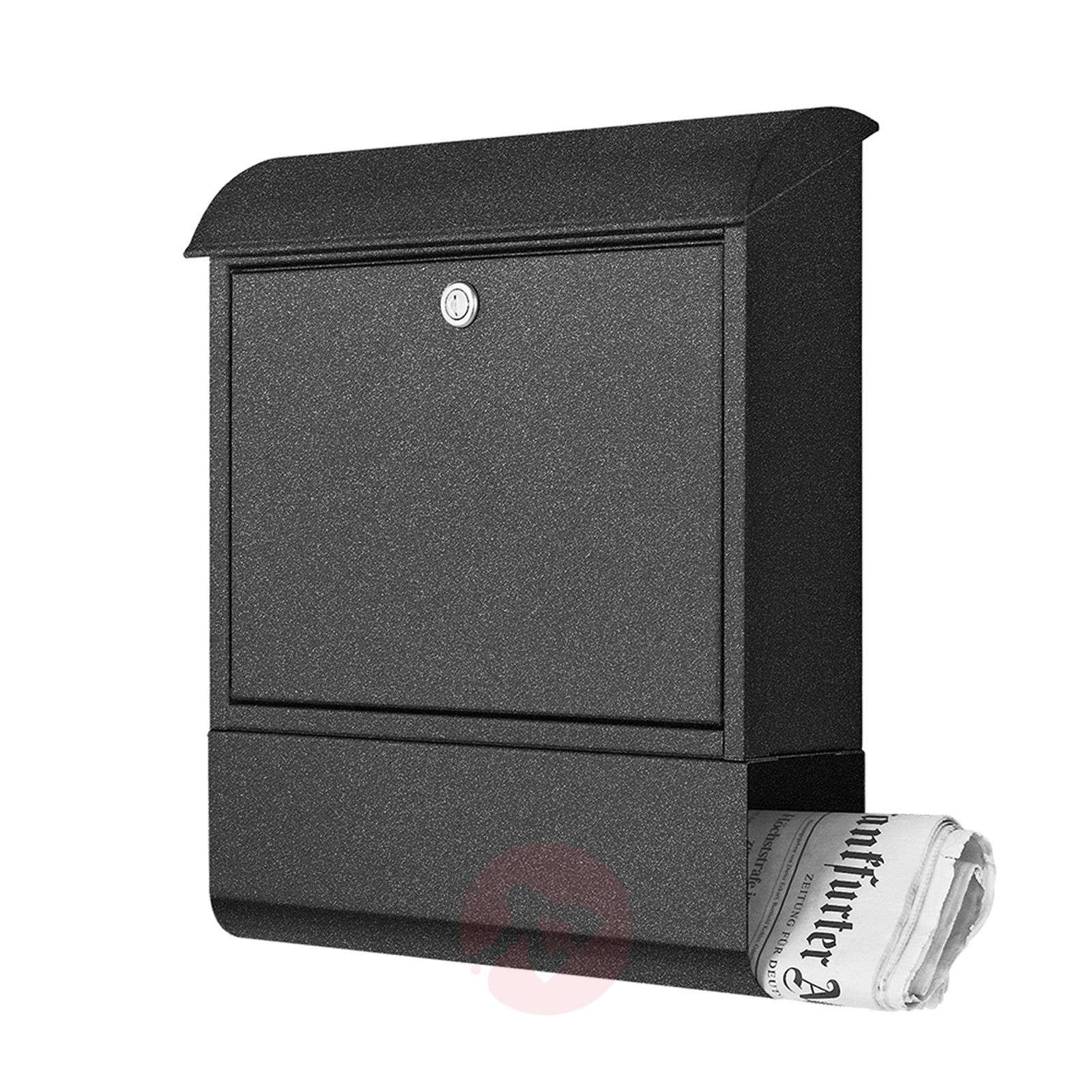 Galvanised letterbox Joram with newspaper holder-4502373-01